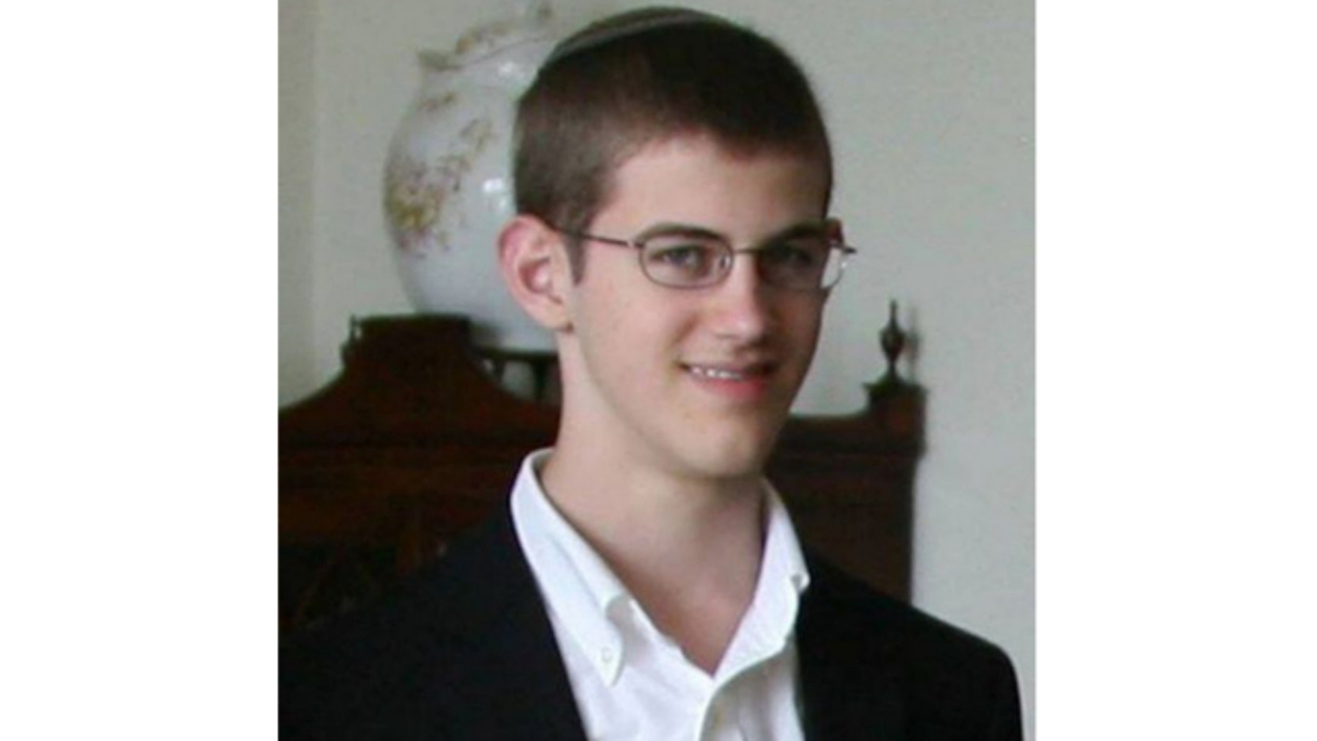 UNDATED: This image shows Caleb Jacoby, the 16-year-old son of Boston Globe columnist Jeff Jacoby, who has been missing since Monday.
