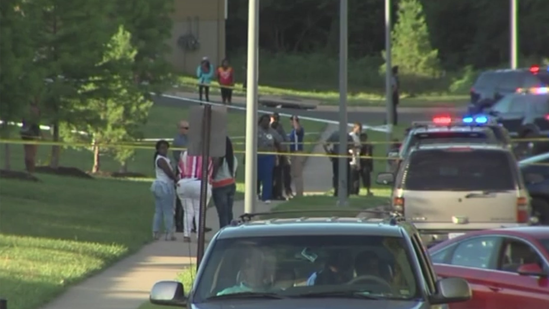 A young child has been hospitalized after they were shot by another child at a Kansas City playground.