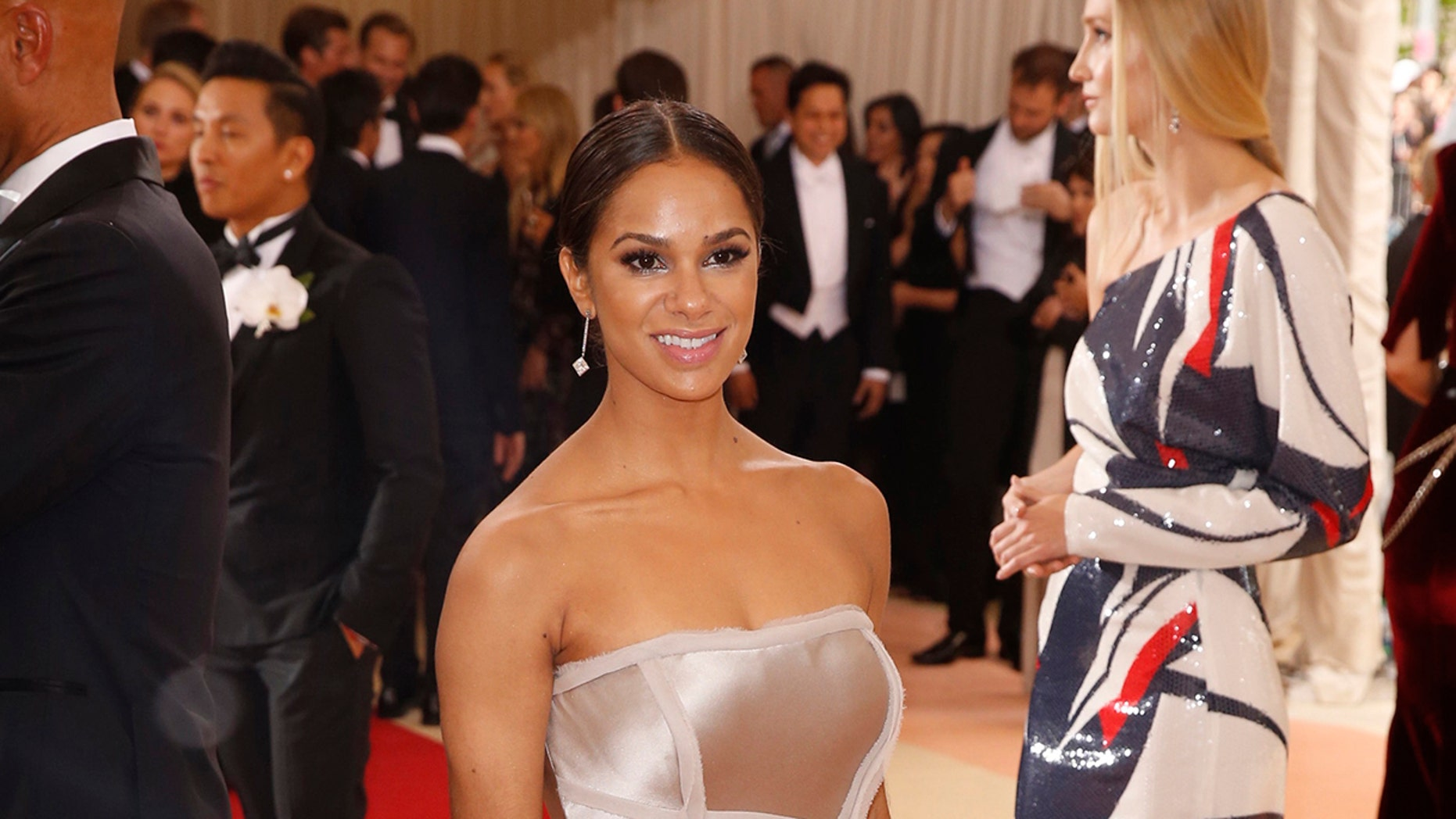 """Prima ballerina Misty Copeland arrives at the Metropolitan Museum of Art Costume Institute Gala (Met Gala) to celebrate the opening of """"Manus x Machina: Fashion in an Age of Technology"""" in Manhattan borough of New York, May 2, 2016."""