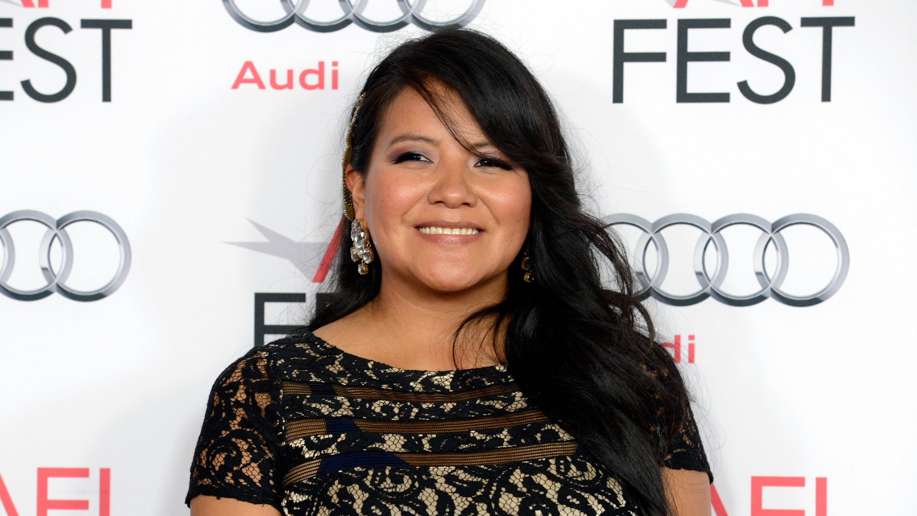 """November 8, 2013. Cast member Misty Upham attends a screening of the film """"August: Osage County"""" during AFI Fest 2013 in Los Angeles."""