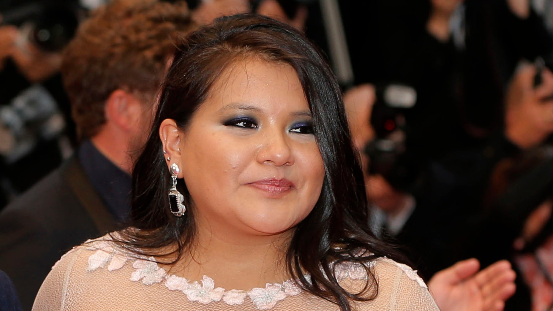 May 17, 2013. Misty Upham at the Cannes Film Festival.