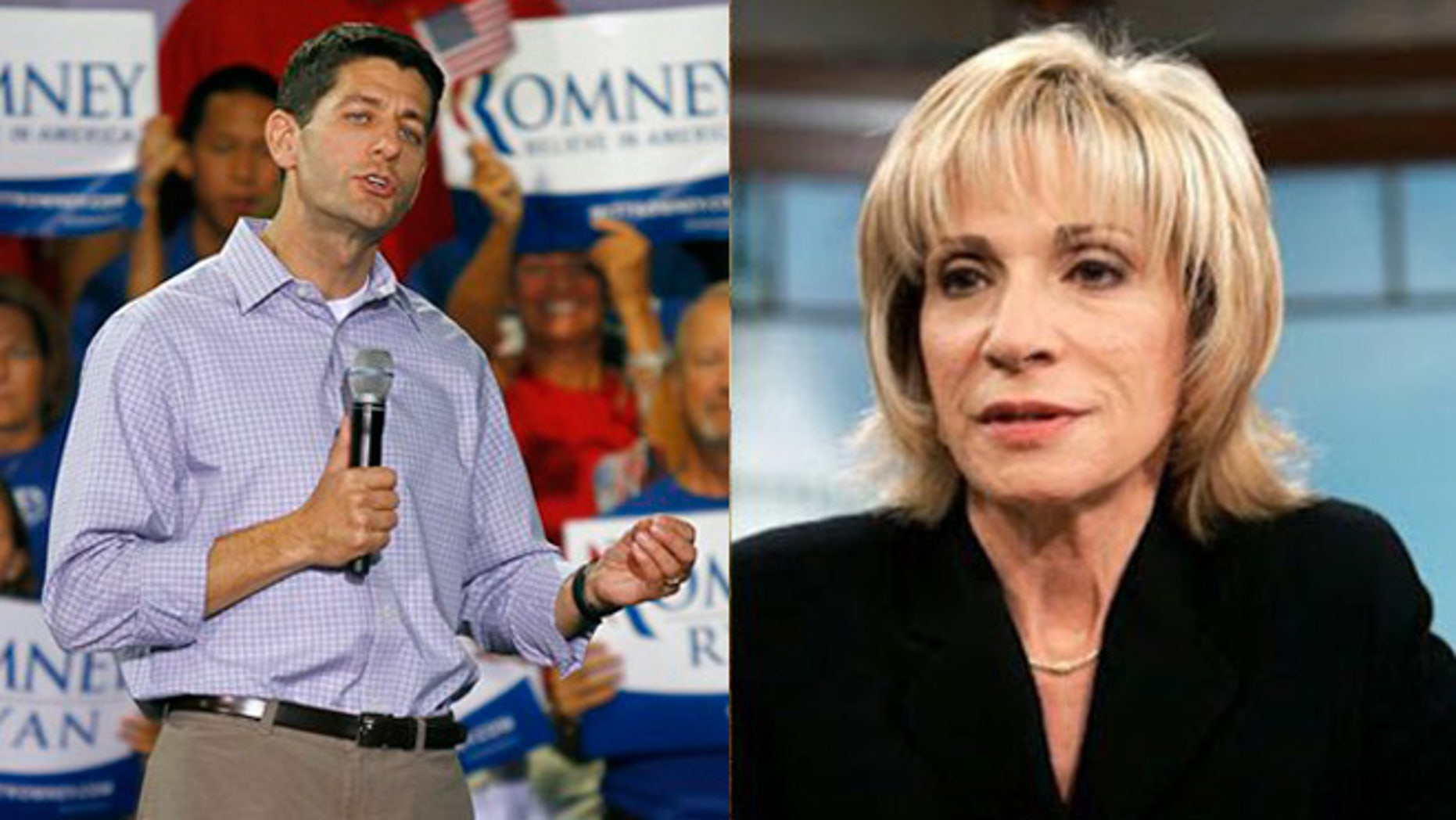 Shown here are Rep. Paul Ryan and NBC's Andrea Mitchell.