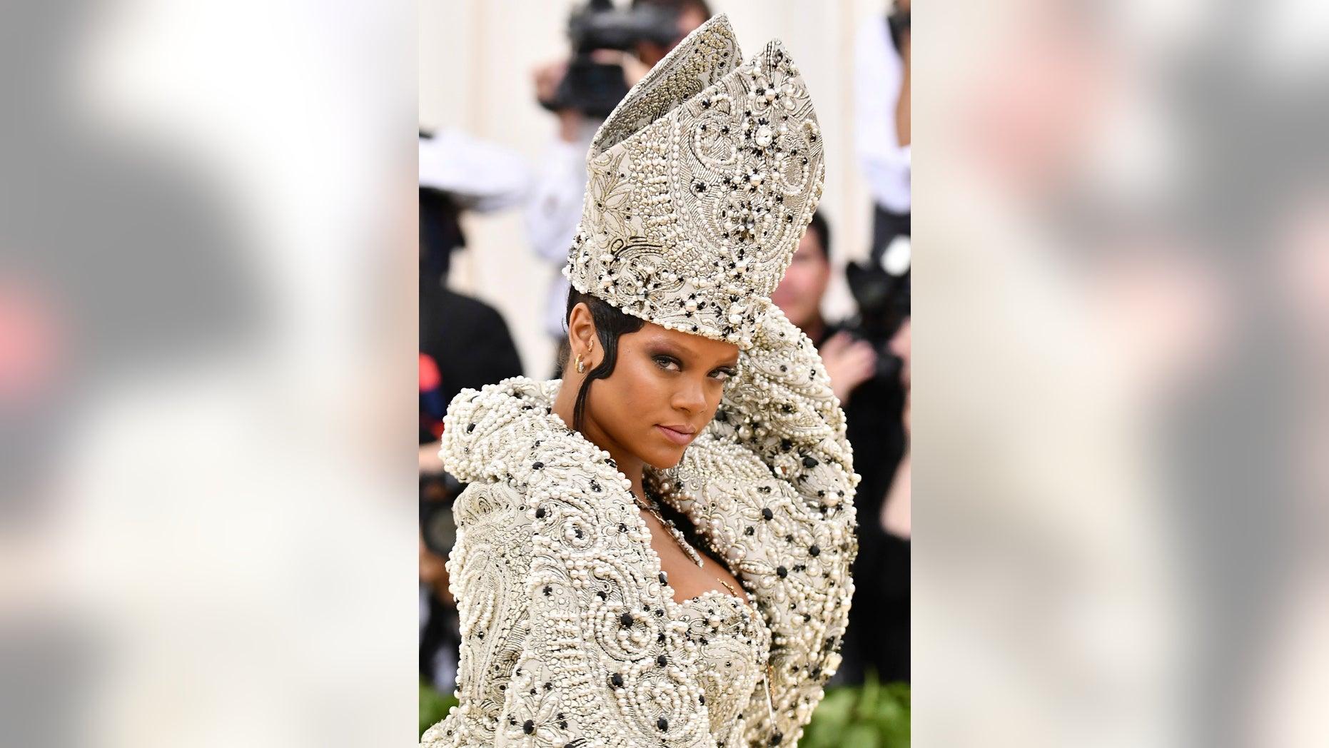 Rihanna at the 2018 Met Gala in New York City.