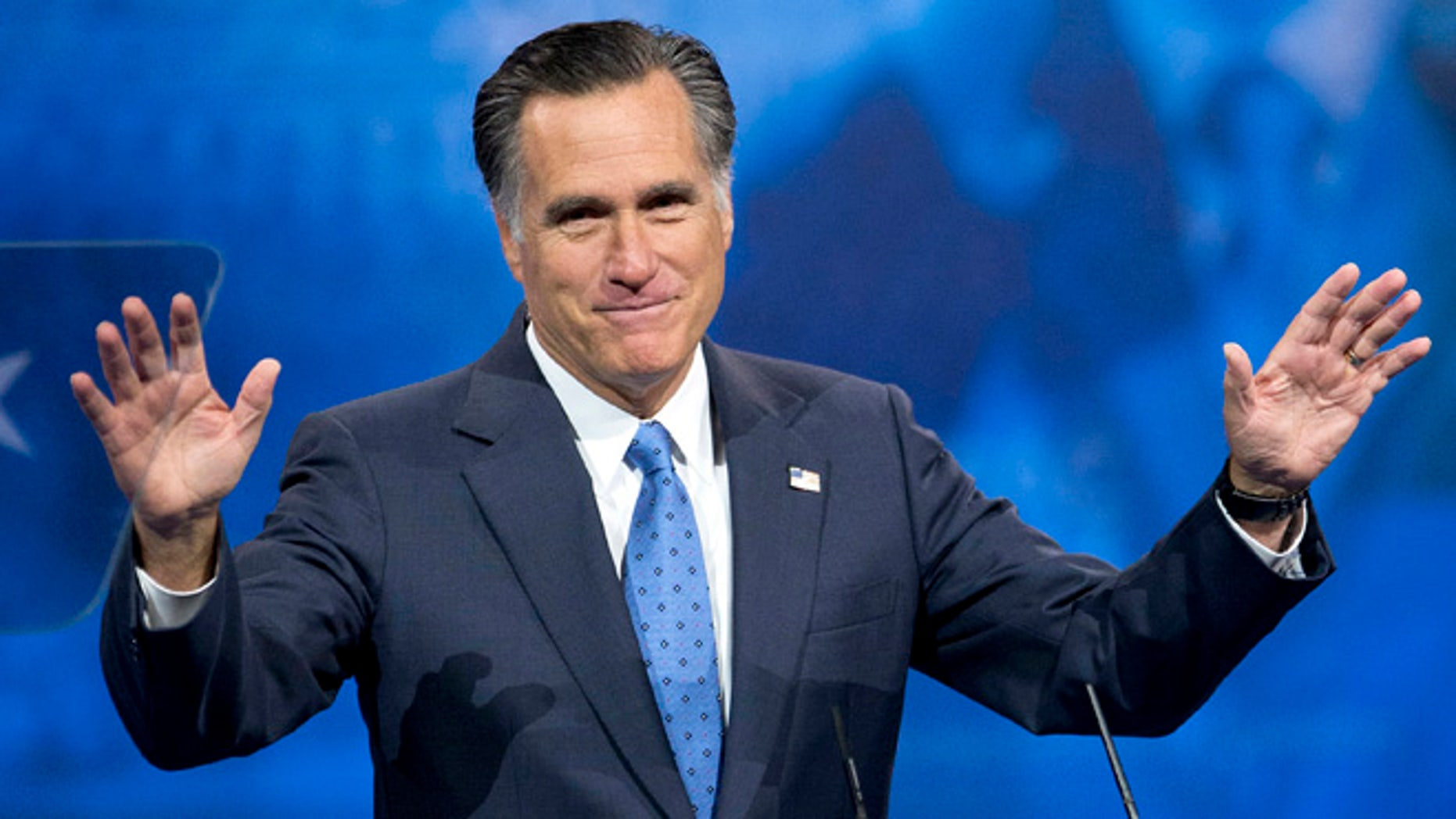March 15, 2013: Former Massachusetts governor and 2012 Republican presidential candidate Mitt Romney speaks in National Harbor, Md.