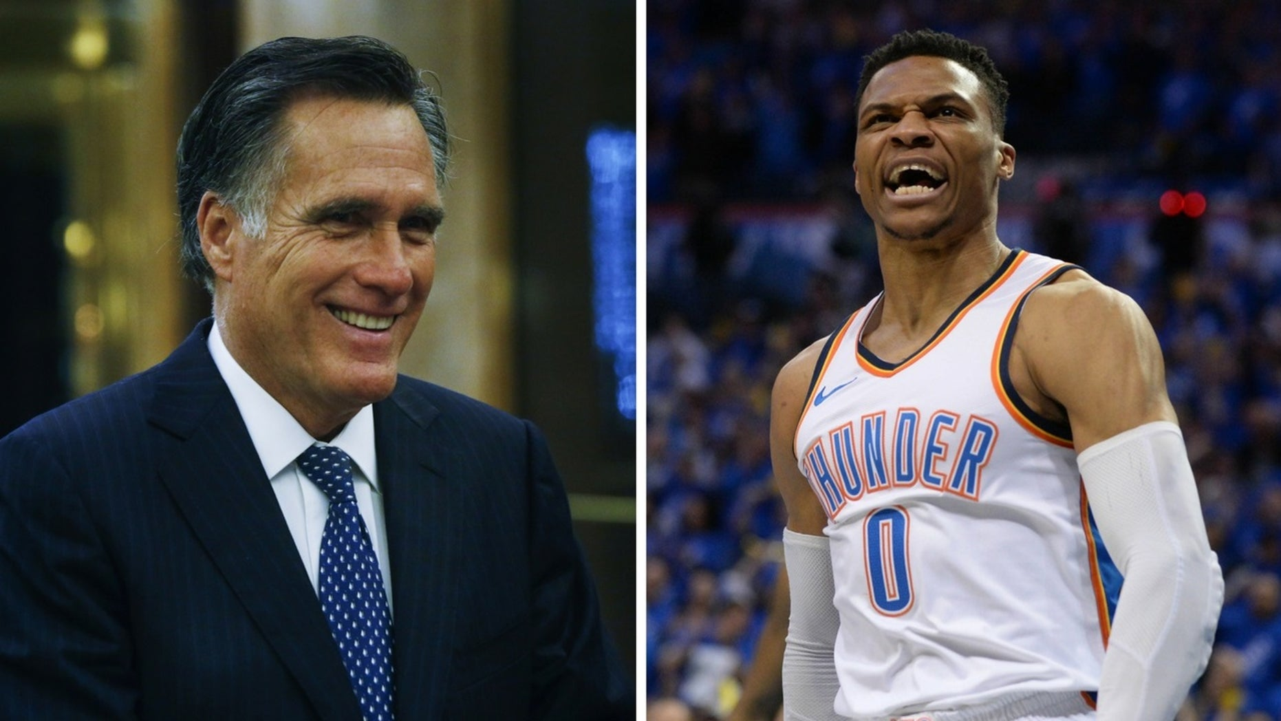 Mitt Romney was spotted at the Utah vs. Thunder game and taunted NBA star Russell Westbrook when he received his fourth foul call.
