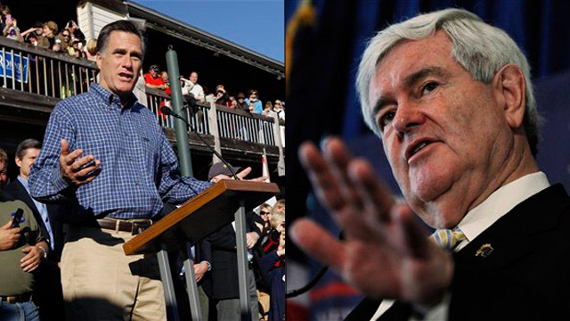 Jan. 28: Mitt Romney Newt Gingrich campaign in Florida.
