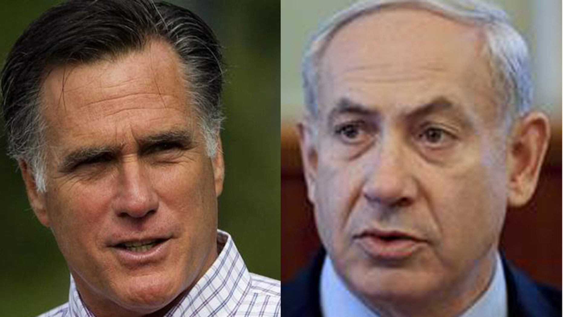 Some in Israel believe Prime Minister Benjamin Netanyahu (r.) could be waiting for his old friend Mitt Romney to become president to launch an attack on Iran. (AP)