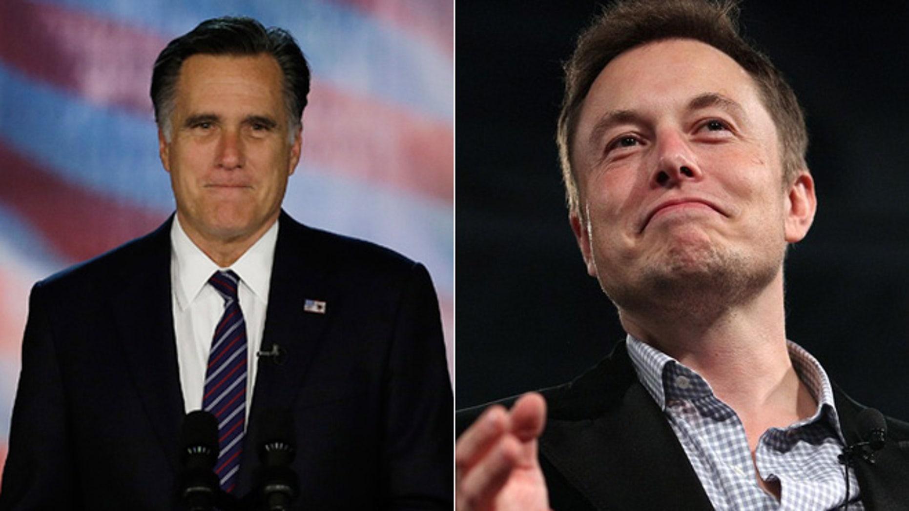 Gov. Mitt Romney/Elon Musk