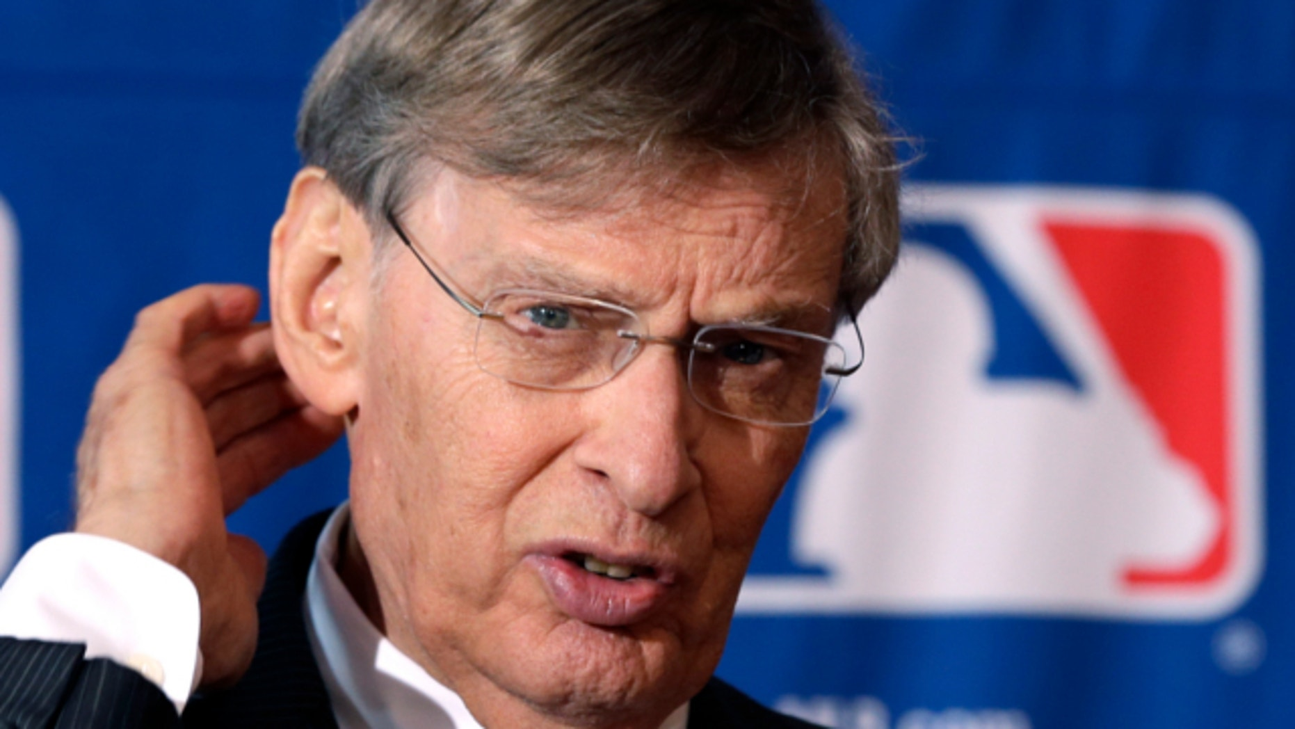 Aug. 15, 2013: Major League Baseball Commissioner Bud Selig speaks during a news conference following baseball meetings at the Otesaga Hotel in Cooperstown, N.Y.