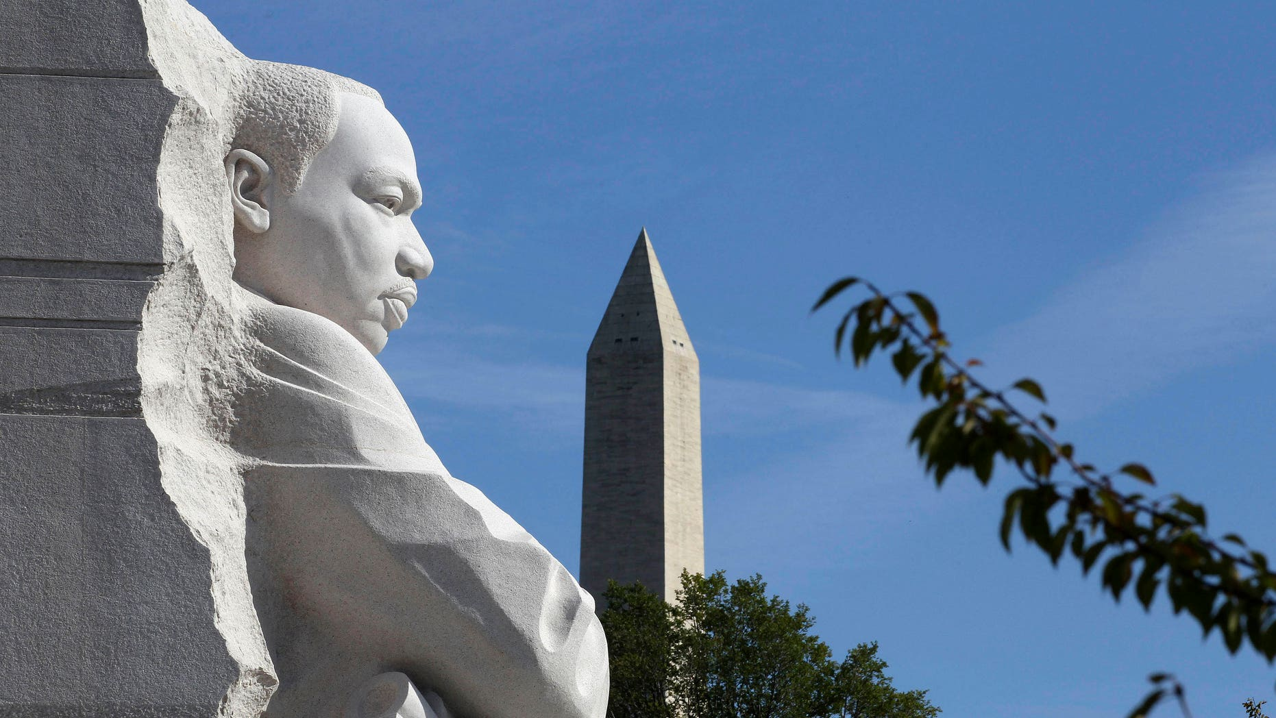 The Martin Luther King, Jr. Memorial and the Washington Monument are seen in Washington, DC