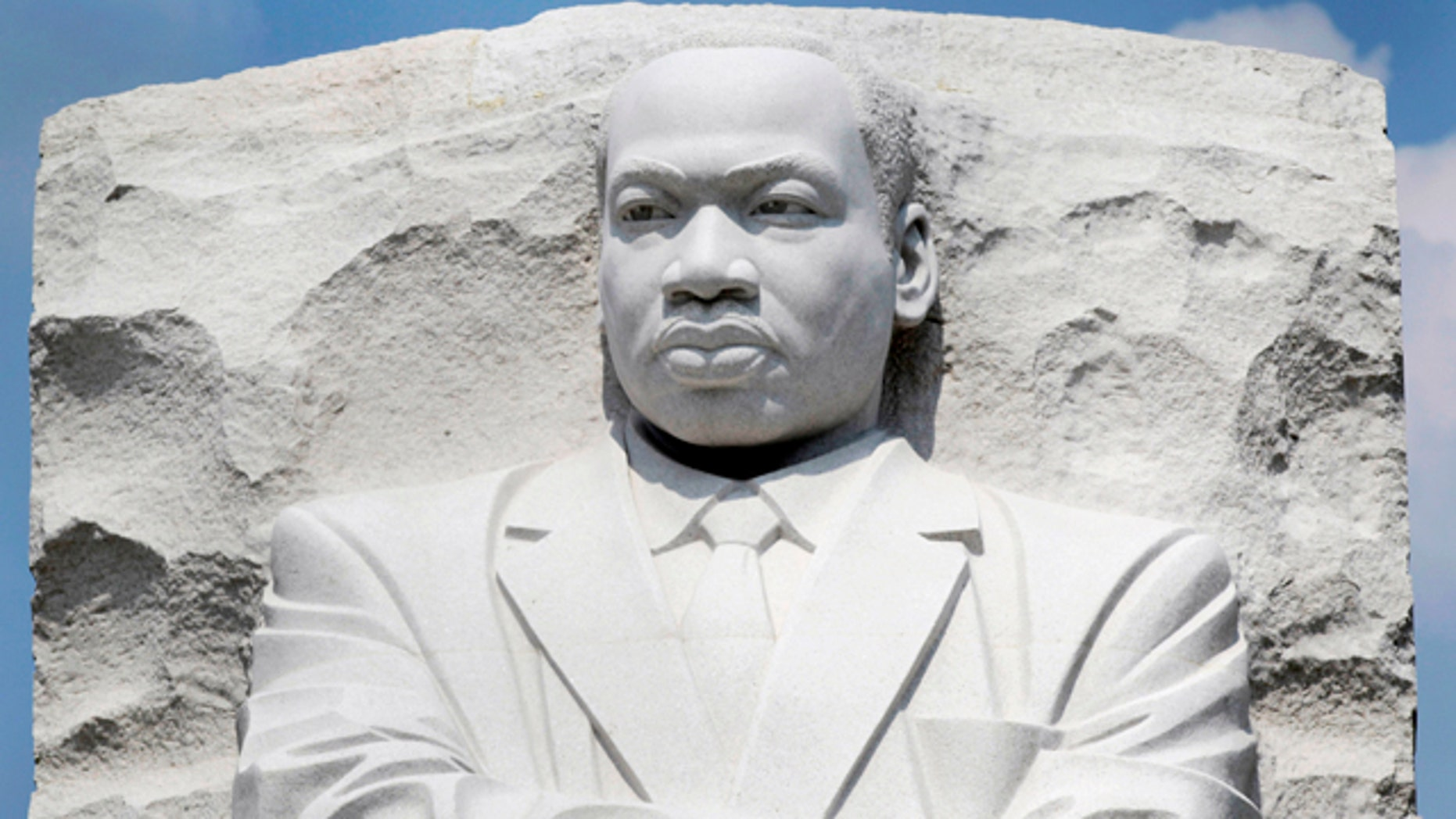 Aug. 21: A part of the Rev. Martin Luther King Jr. Memorial is seen on the National Mall in Washington. The memorial to the late civil rights leader is scheduled to be dedicated later this week.