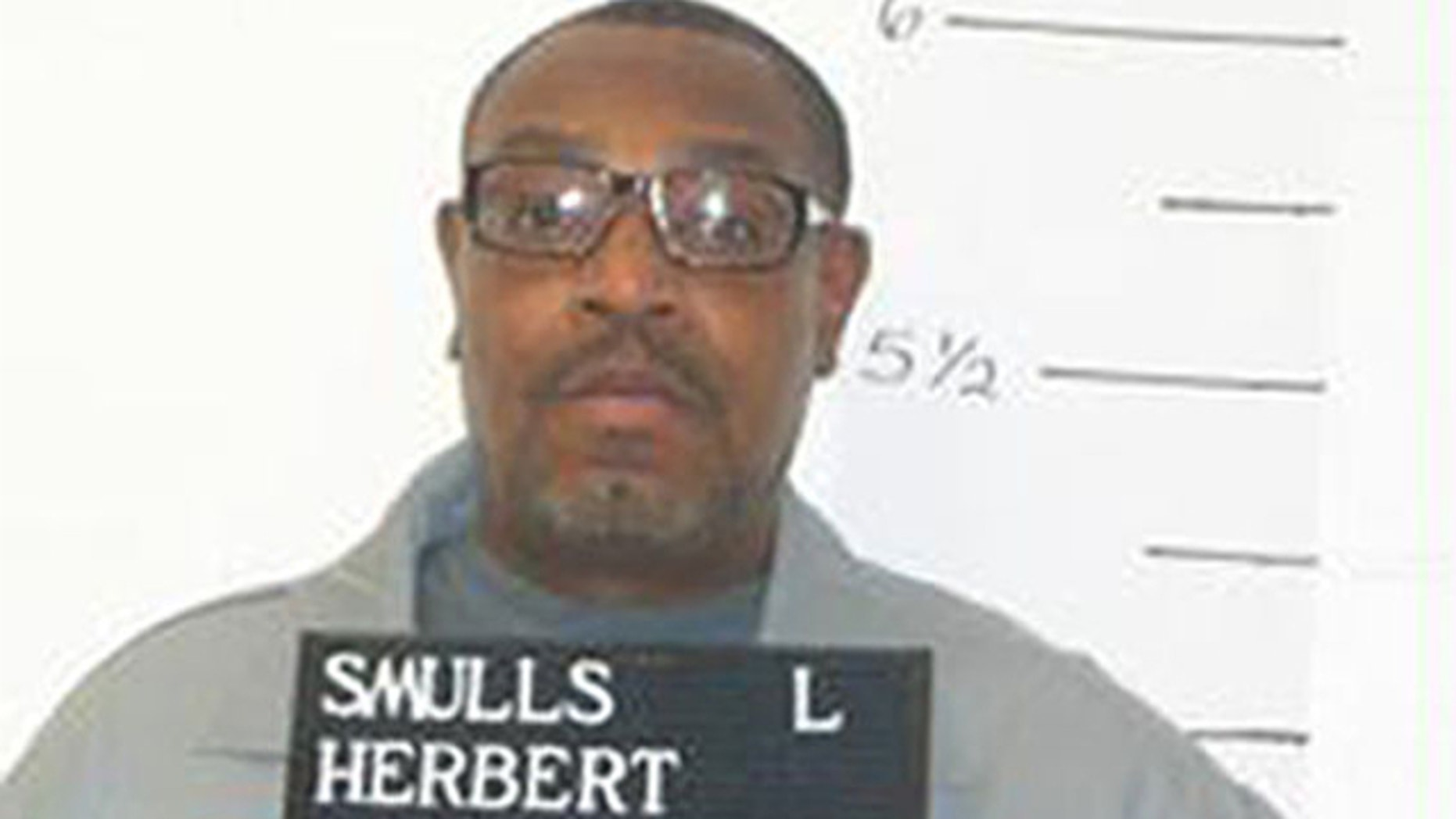 FILE: Dec. 13, 2011: This photo released by the Missouri Department of Corrections shows death-row inmate Herbert Smulls who was sentenced to death for killing St. Louis County jeweler Stephen Honickman in 1991.