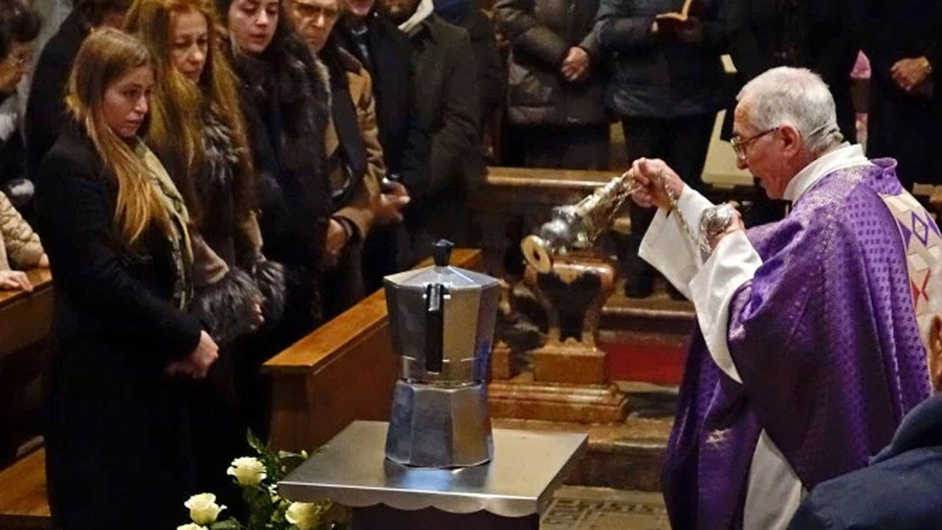 Renato Bialetti's ashes were buried in a stovetop espresso maker.