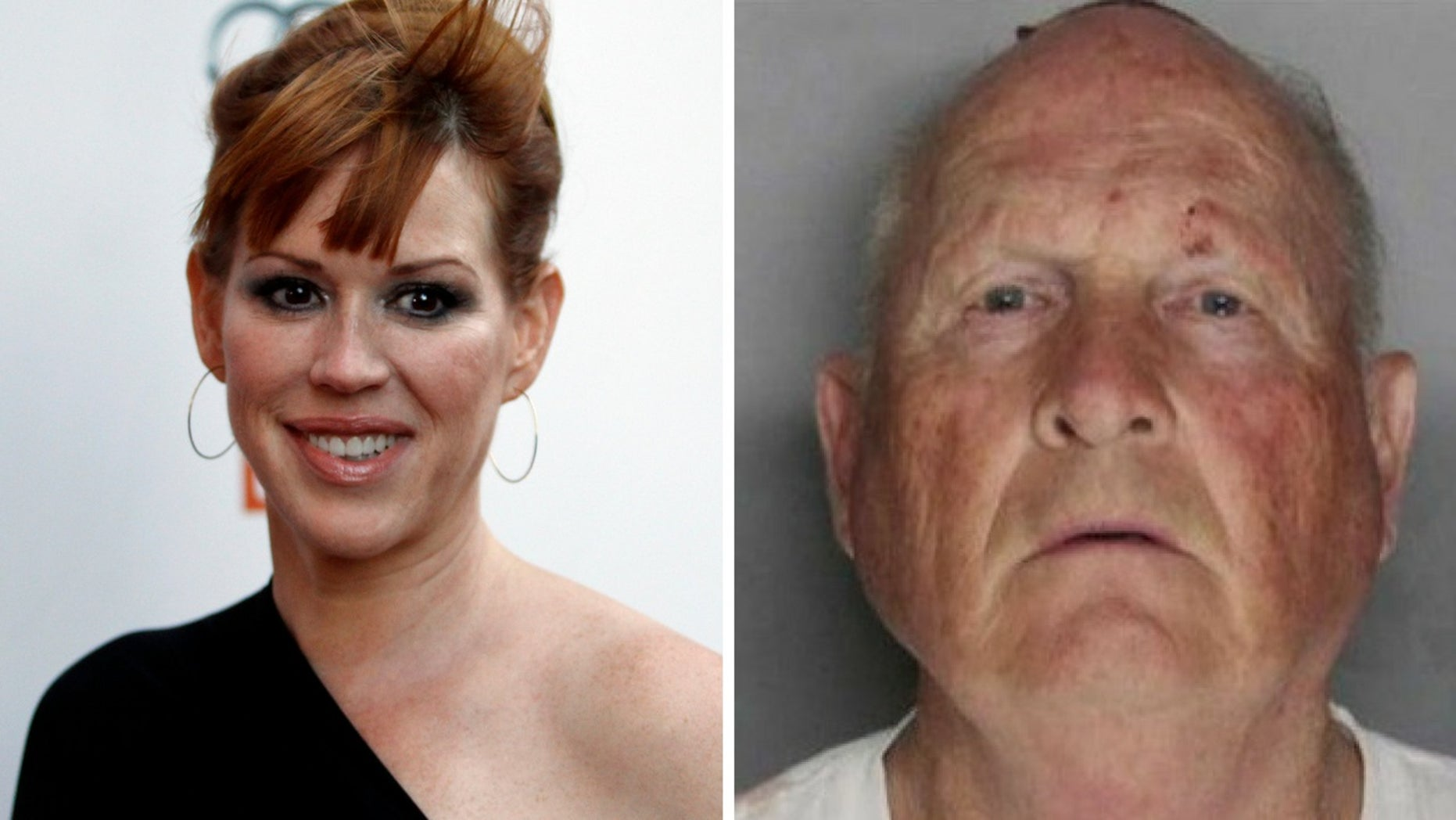 Molly Ringwald recalled living in fear as the Golden State Killer committed crimes nearby to her home. Last month, James DeAngelo [right] was arrested in connection to the Golden State Killer's crimes.