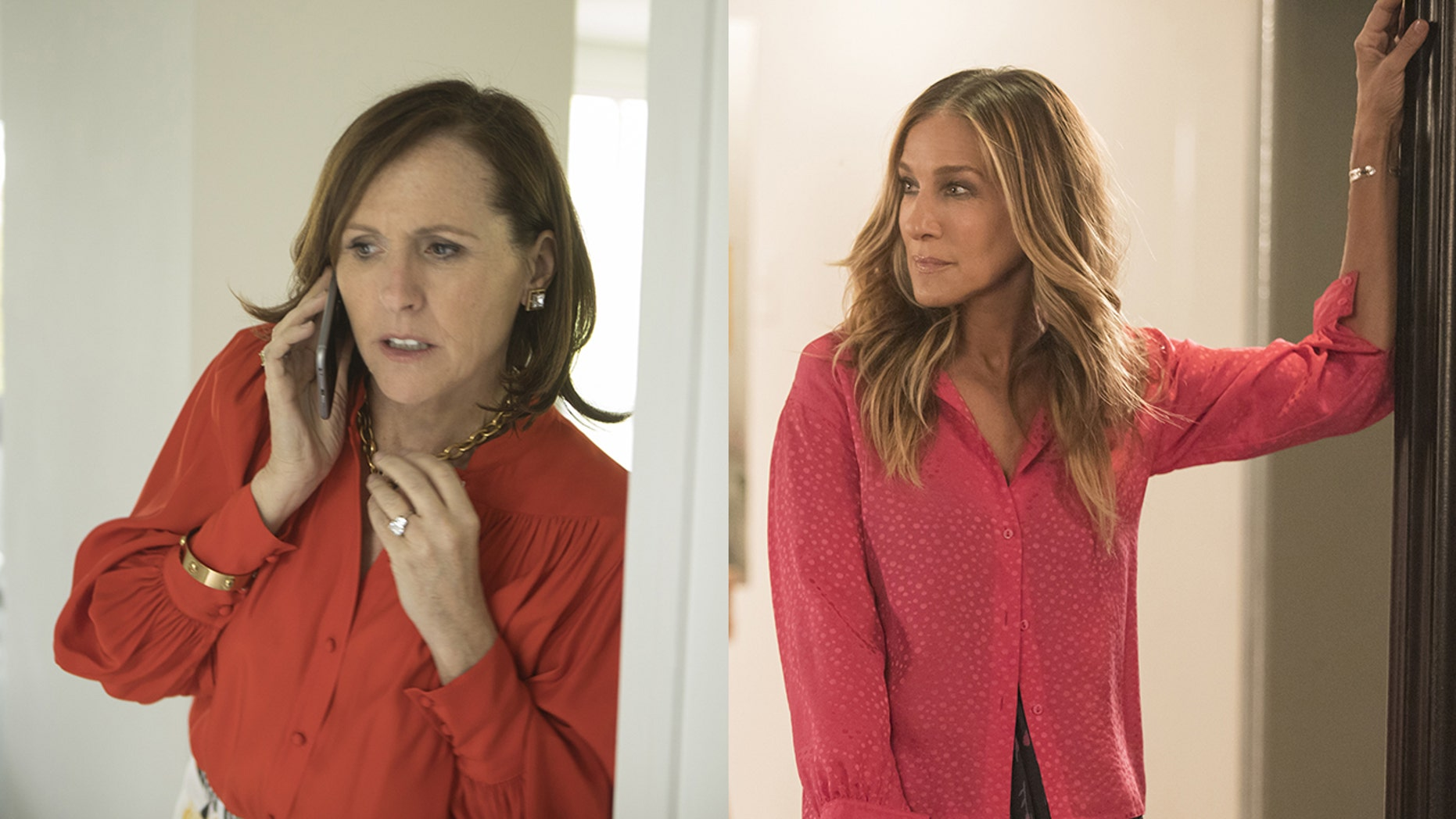 """Molly Shannon stars alongside Sarah Jessica Parker, right, in """"Divorce"""" on HBO."""