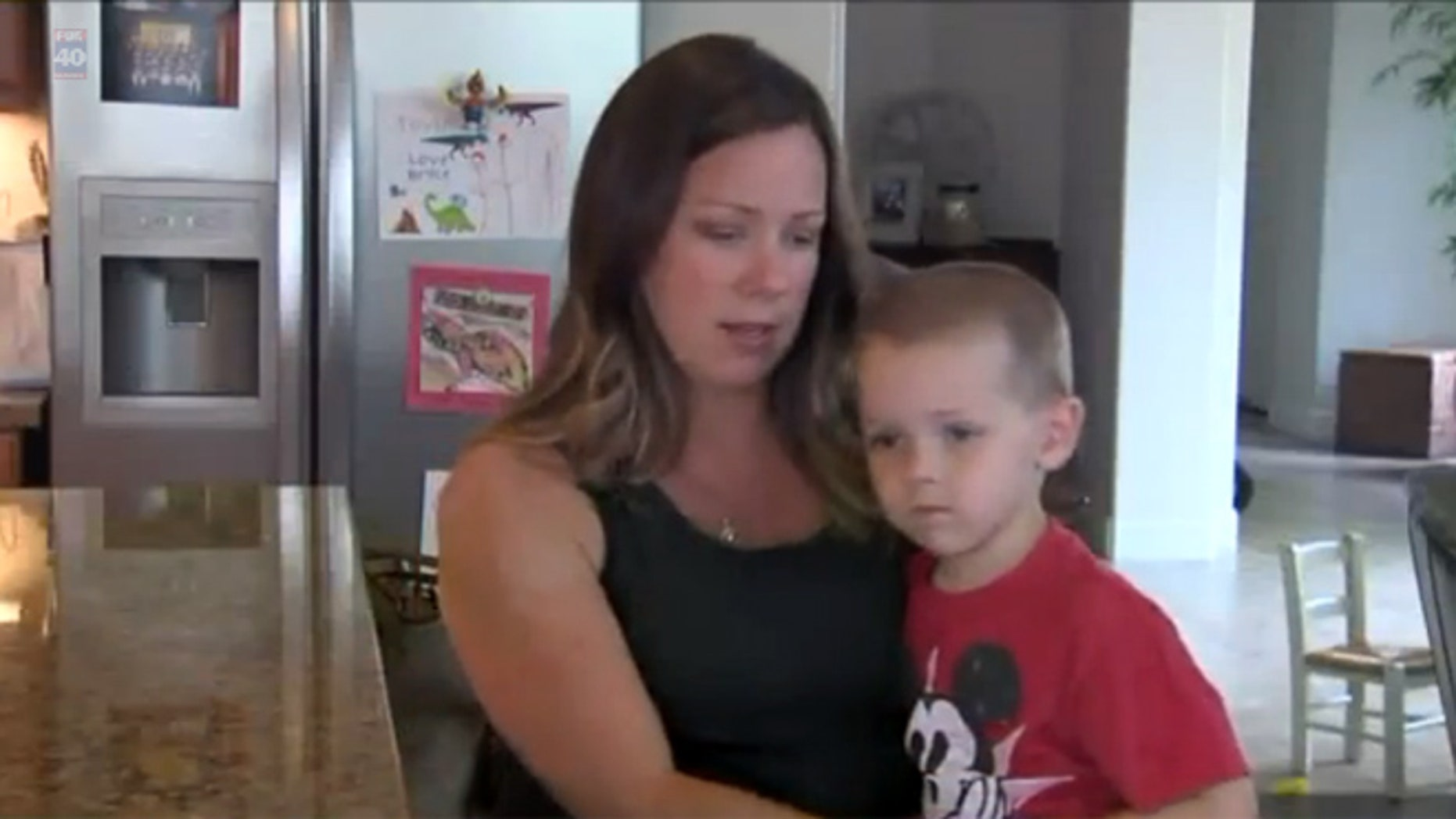 Jaclyn Caramazza, who is nine months pregnant, was hiking with her son, 4, when he was bit by a venomous rattlesnake.