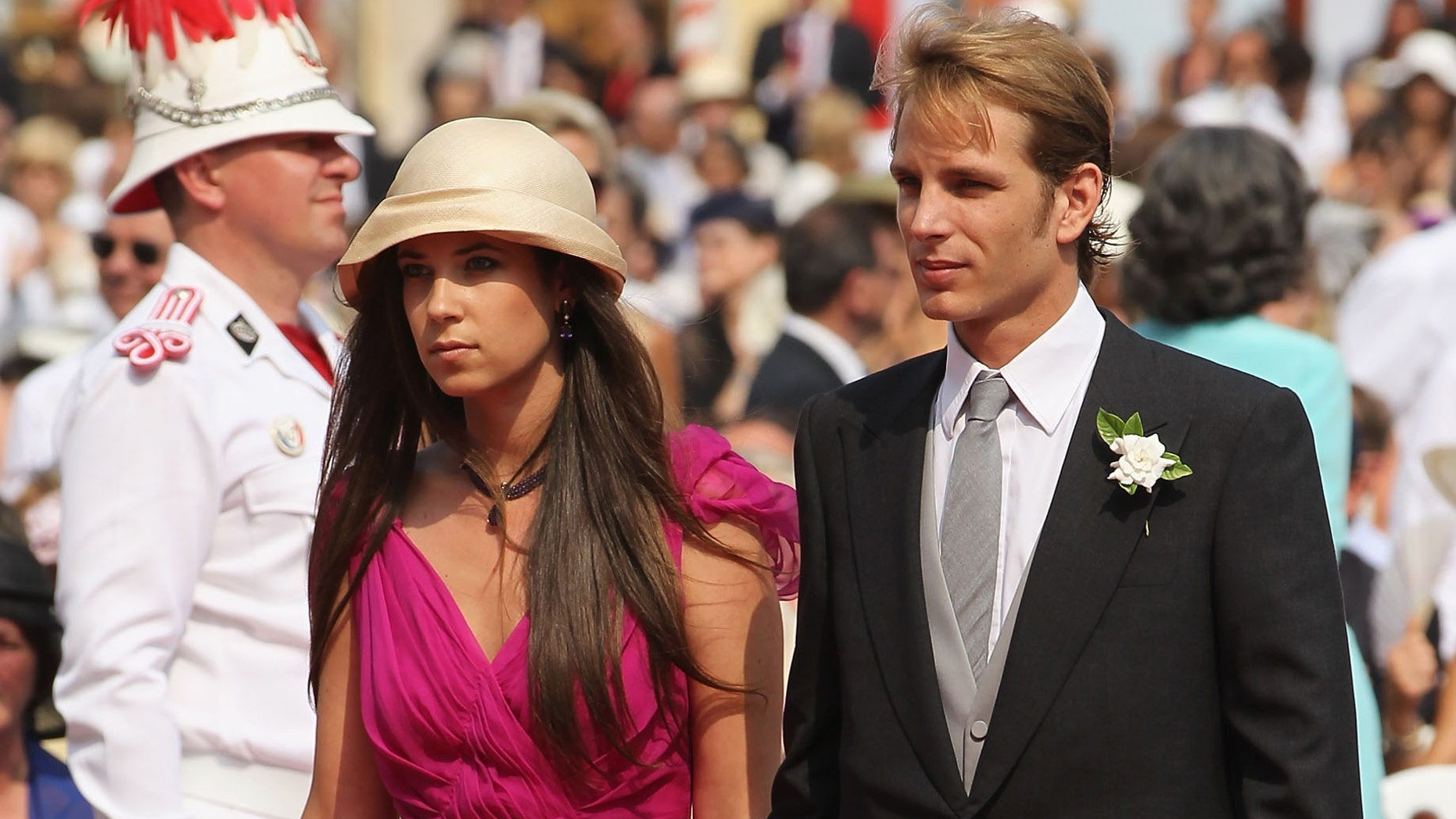 Tatiana Santo Domingo and Andrea Casiraghi attending the Royal Wedding of Prince Albert II of Monaco to Princess Charlene of Monaco.
