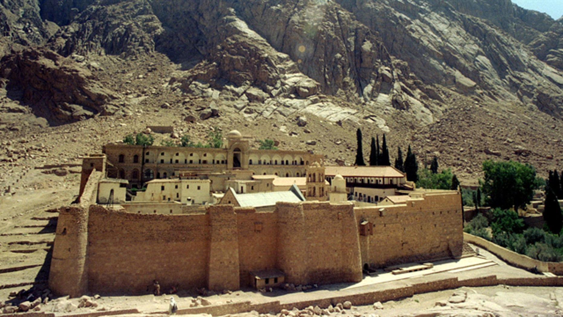 FILE: St Catherine's Monastery on Mount Sinai, stands surrounded by the steep cliffs under the blazing desert sun in Egypt's Sinai Peninsula.