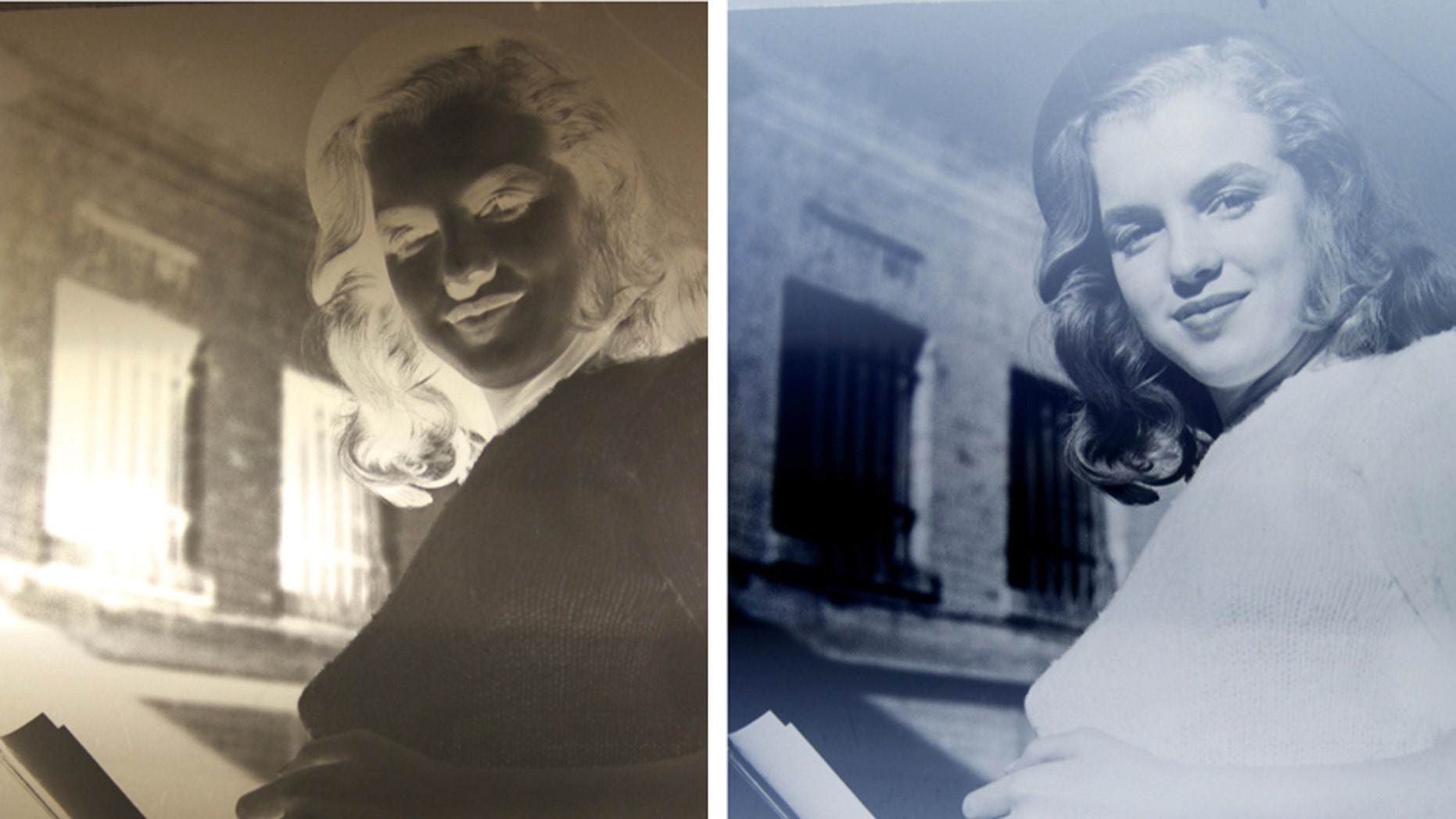 The negative and image from Marilyn Monroe's first modeling portfolio (Henry Aldridge and Son).