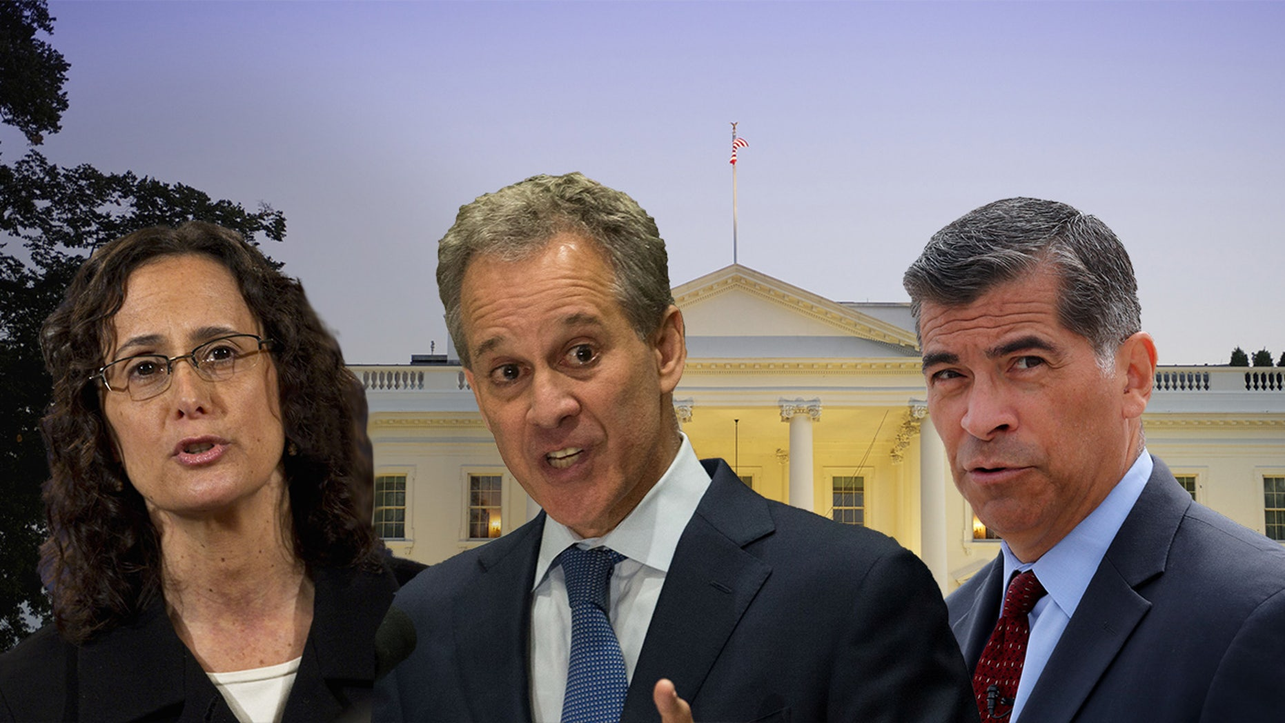 Illinois Attorney General Lisa Madigan, New York Attorney General Eric Schneiderman and California Attorney General Xavier Becerra are helping lead a slew of anti-Trump administration suits.