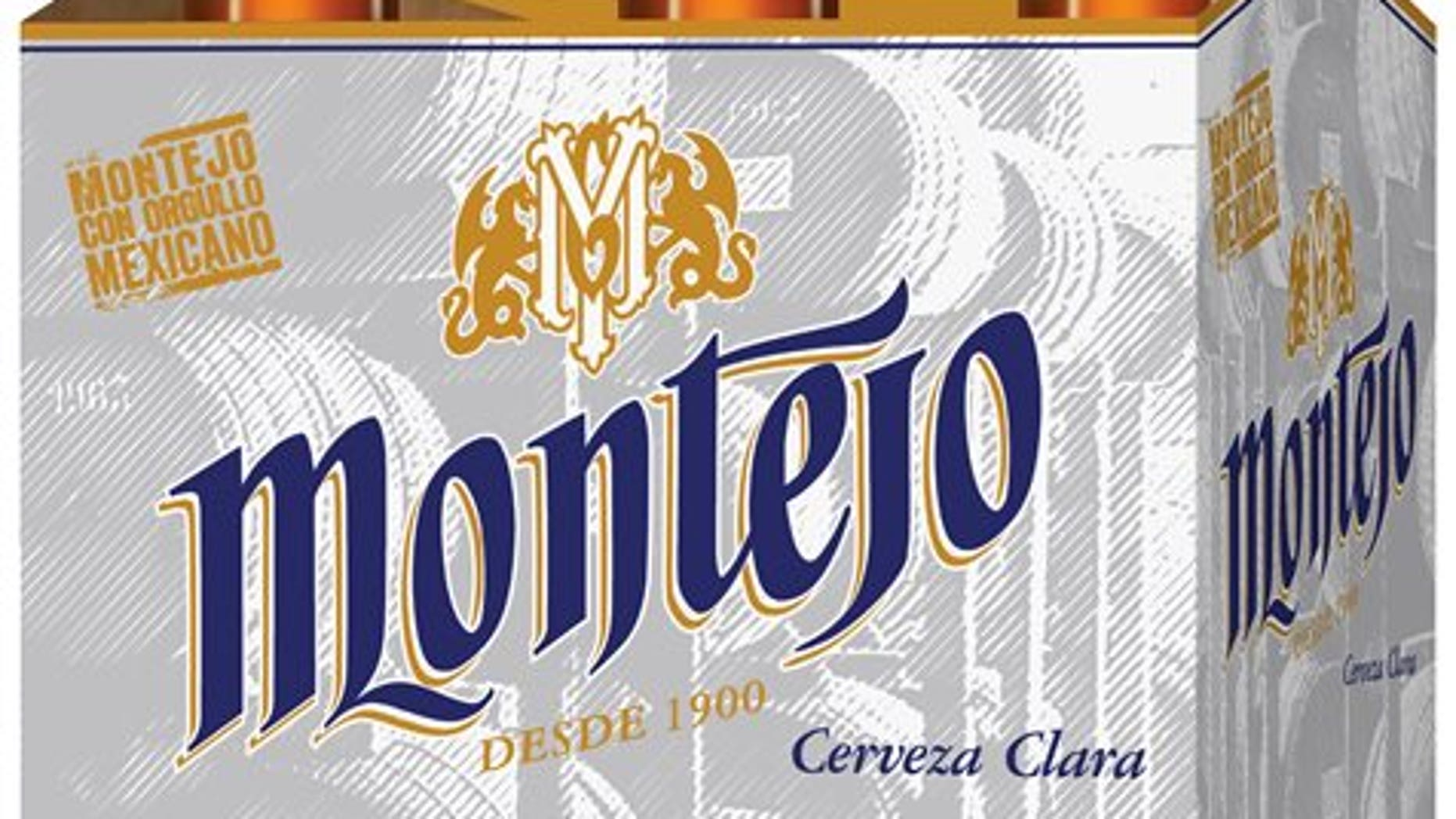 This undated product image provided by Anheuser-Busch shows Montejo. Anheuser-Busch is entering the popular Mexican lager market for the first time with the import of Montejo to Southwestern U.S. markets beginning next month. The subsidiary of Belgium-based Anheuser-Busch InBev, the world's largest beer maker, said Wednesday, Aug. 6, 2014, it will sell the beer in bars, restaurants and grocery stores in California, Texas, Arizona and New Mexico. (AP Photo/Anheuser-Busch)