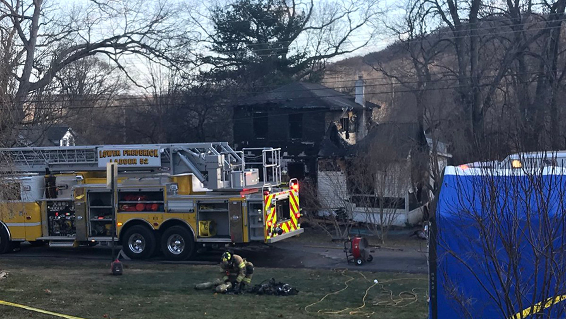 Two young sons of a deputy sheriff for Montgomery County, Pa., were killed by a Wednesday morning house fire, according to authorities.