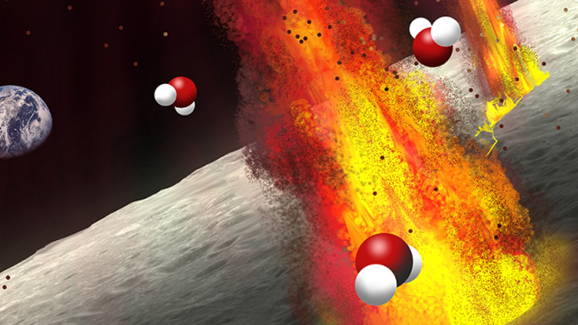 Ancient volcanic deposits on the moon suggest the lunar interior has a substantial amount of water.