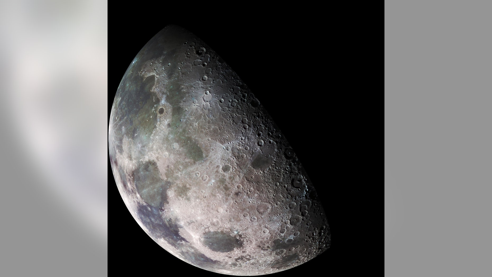 Galileo spacecraft surveyed the moon on Dec. 7, 1992, on its way to explore the Jupiter system in 1995-1997. Credit: NASA/JPL/USGS