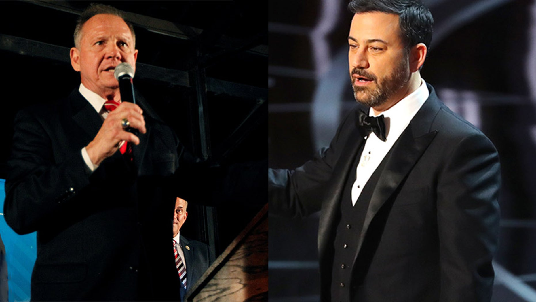 Roy Moore and Jimmy Kimmel are dueling over a stunt at a Baptist church in Alabama.