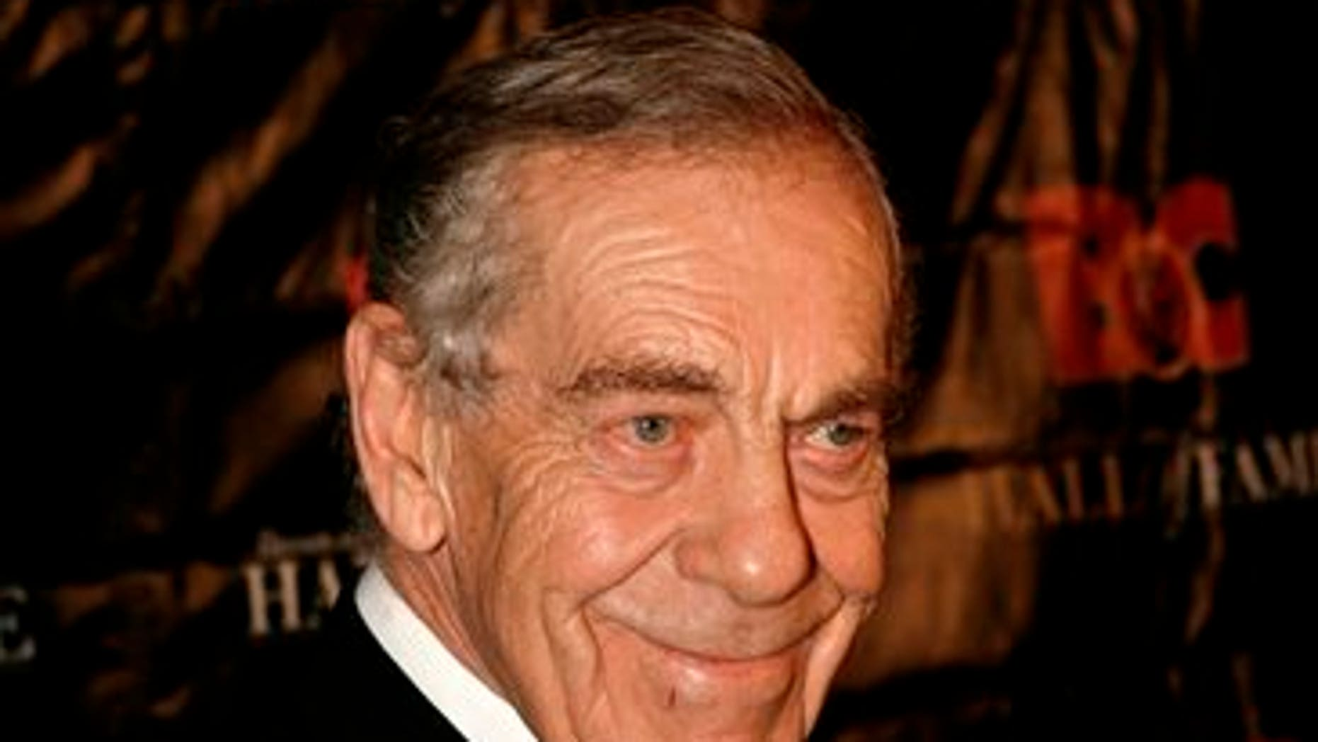 In this Oct. 21, 2008 file photo, Morley Safer poses for a picture during the Broadcasting and Cable Hall of Fame Awards in New York.