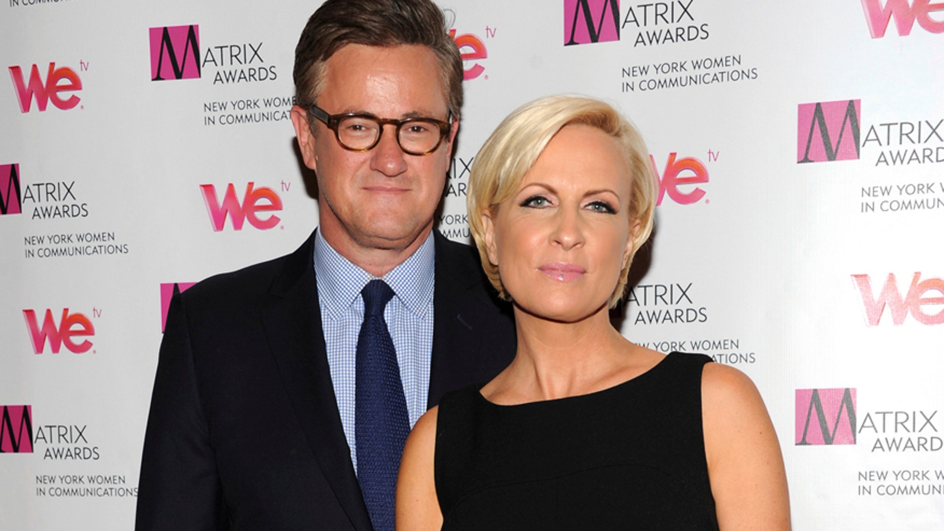 "In this Monday April 22, 2013, file photo, MSNBC's ""Morning Joe"" co-hosts Joe Scarborough and Mika Brzezinski, right, attend the 2013 Matrix New York Women in Communications Awards at the Waldorf-Astoria Hotel in New York. MSNBC confirmed Thursday, May 4, 2017, that the ""Morning Joe"" co-hosts are engaged."
