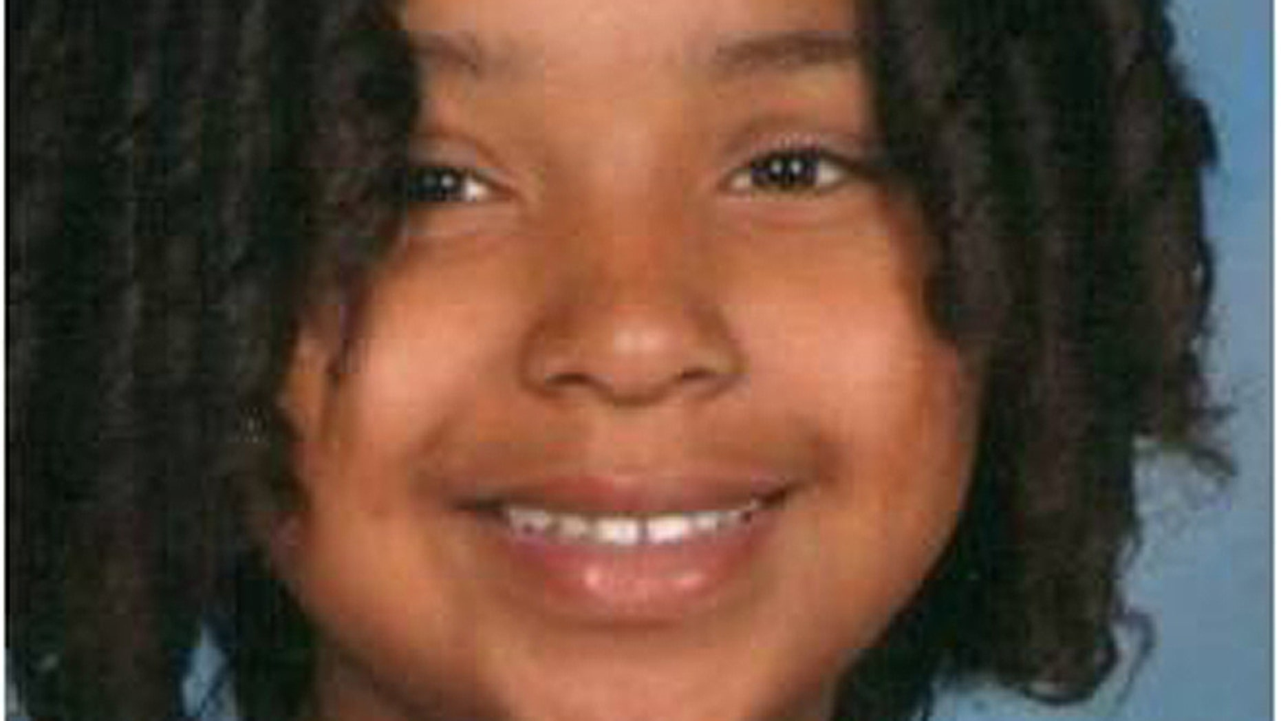 Jade Morris was last seen on Friday in Las Vegas near Martin Luther King Boulevard and Alta Drive. She was wearing blue jeans, a blue shirt and a long brown jacket, police said. (Las Vegas Metro Police)