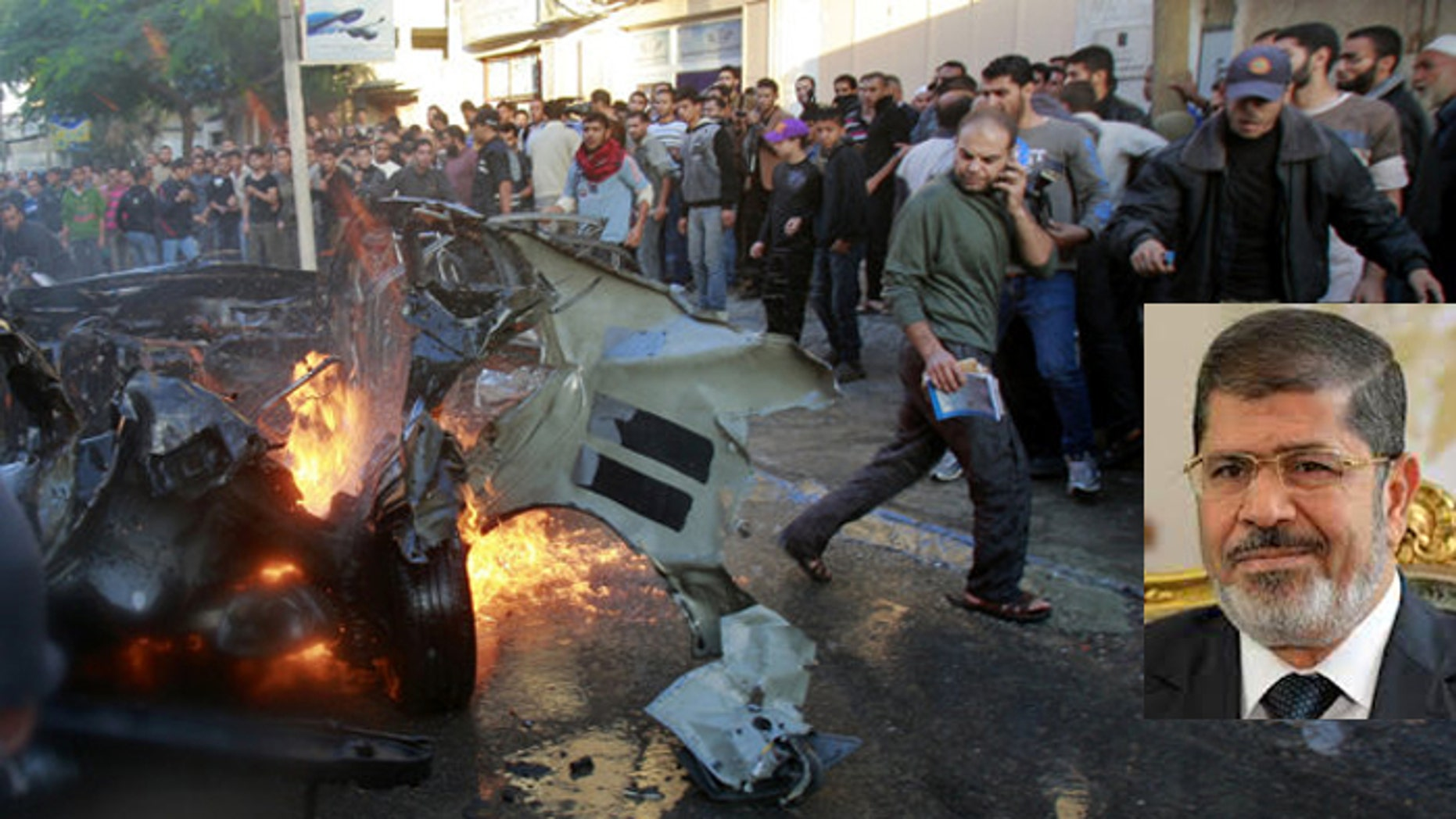 Israeli airstrikes in Gaza have drawn a more muted response from Egyptian President Mohamed Morsi than Hamas might have hoped for.