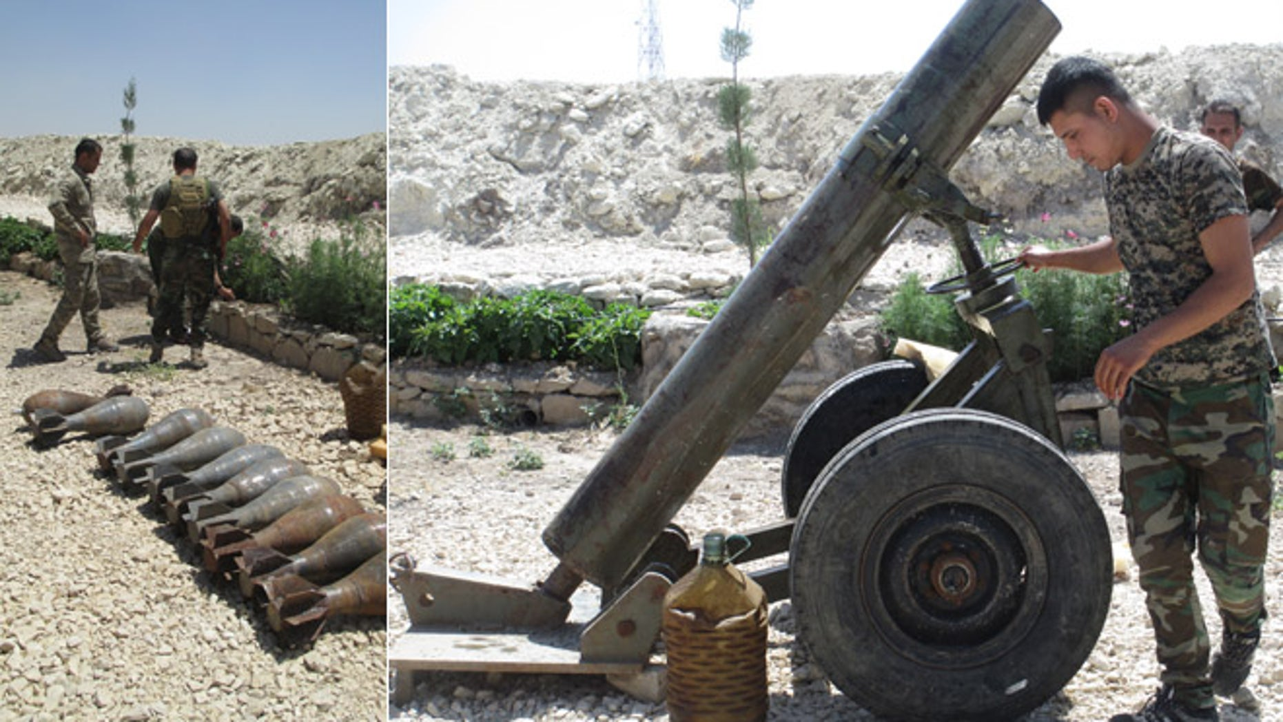 It took the Kurdish fighters days to figure out how to fire the homemade mortar, but when they did, it worked. (FoxNews.com)