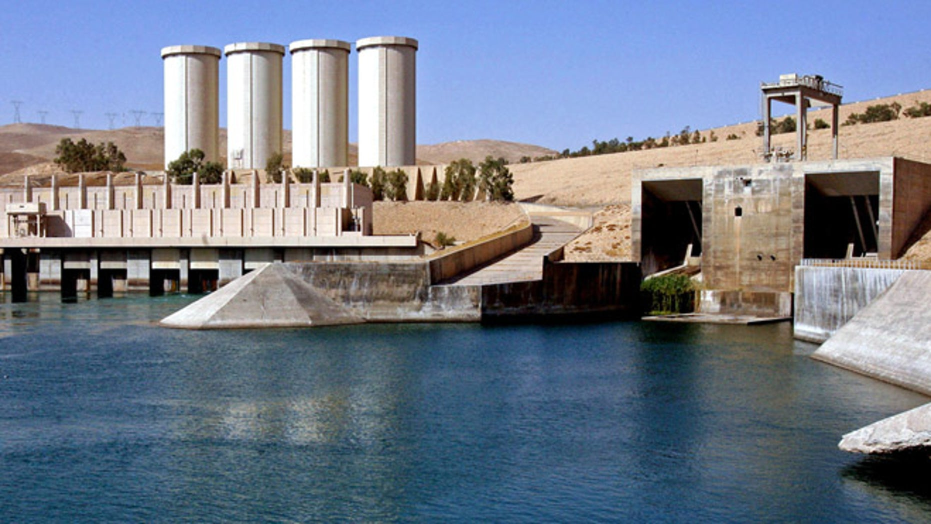 This Oct. 31, 2007 file photo, shows a general view of the dam in Mosul, 225 miles northwest of Baghdad, Iraq.