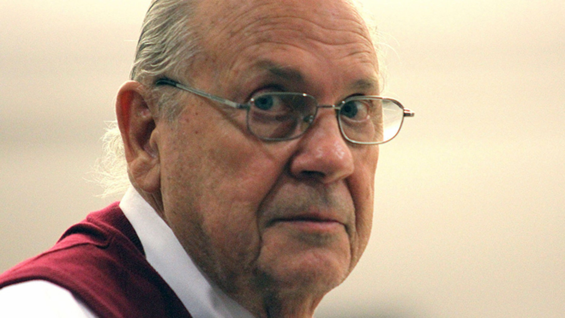 Feb. 5, 2014: Curtis Reeves Jr. looks into the gallery during his bail hearing in Dade City, Florida.