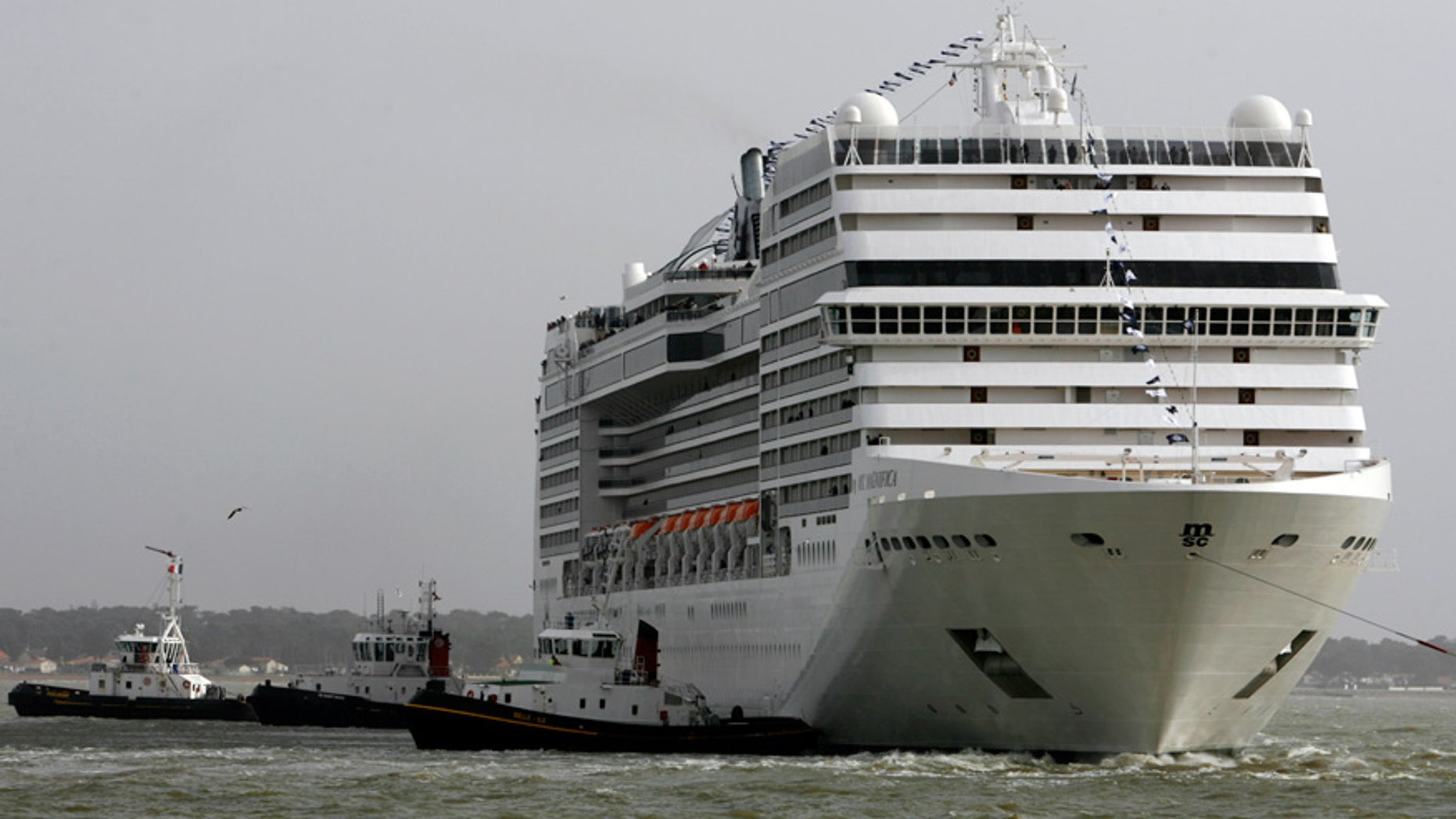 The MSC Magnifica cruise liner is seen off the coast of France in 2010.