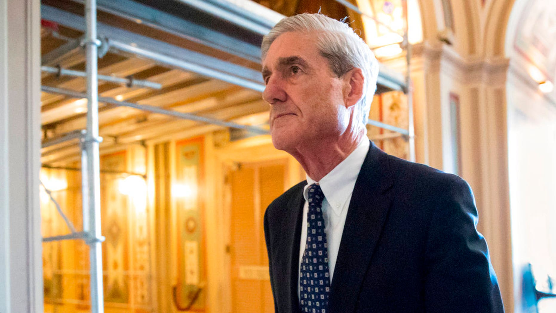 Robert Mueller leaving after a meeting on Capitol Hill in Washington, in June 2017.
