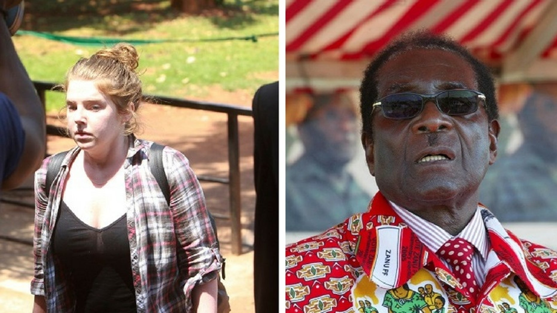 Martha O'Donovan, 25, was accused of insulting Zimbabwean President Robert Mugabe.