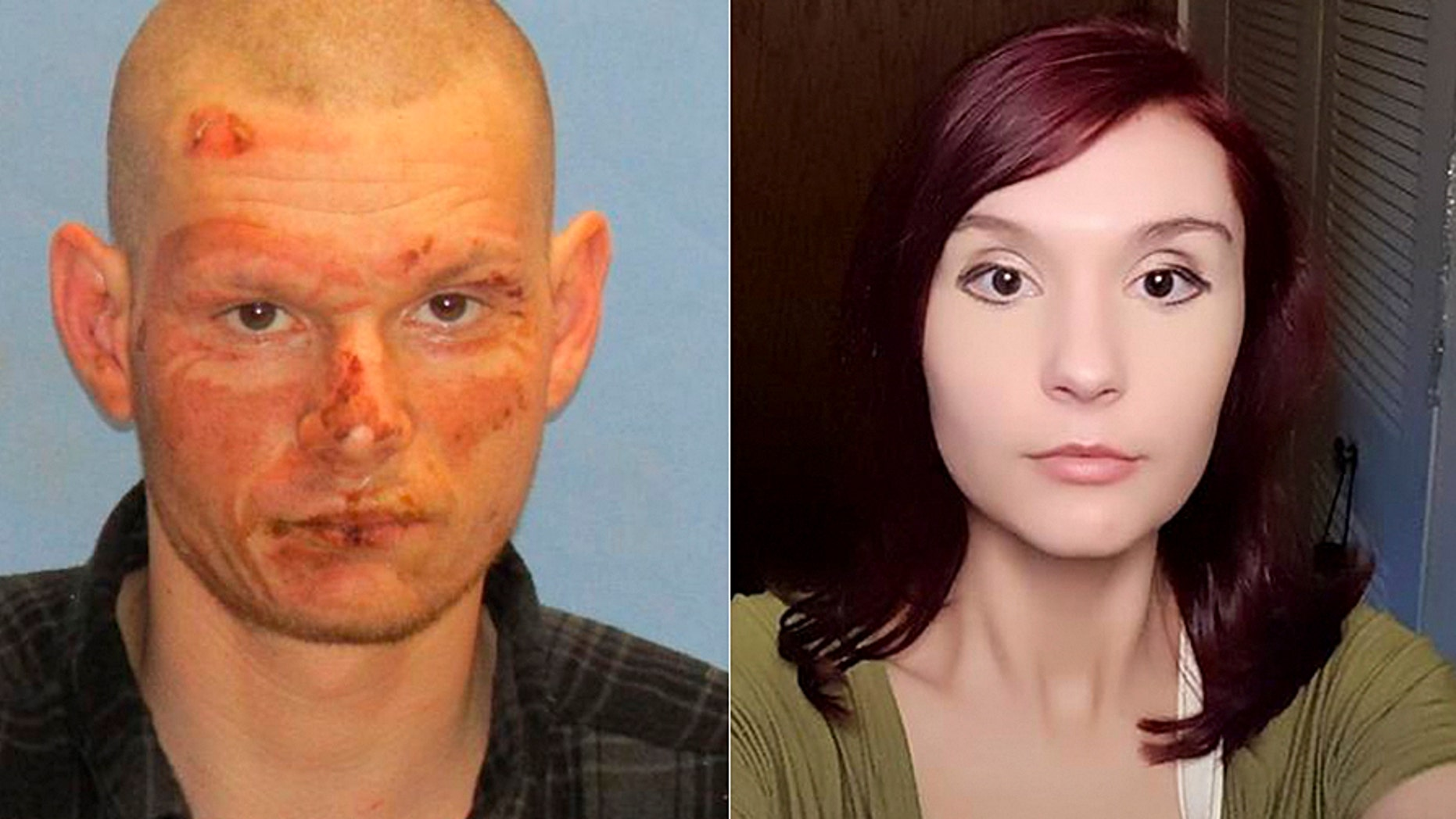 Joseph Porter, left, was arrested in Arkansas on a theft charge days after Cristina Prodan was reported missing.