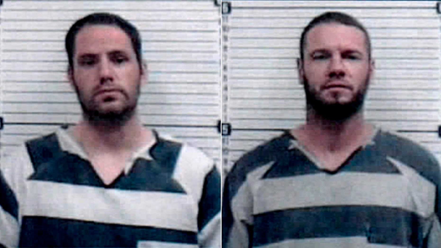 Escaped Oklahoma inmates Andrew Jason Foy, left, and Darren Walp overpowered guards and stole a van early Tuesday morning.