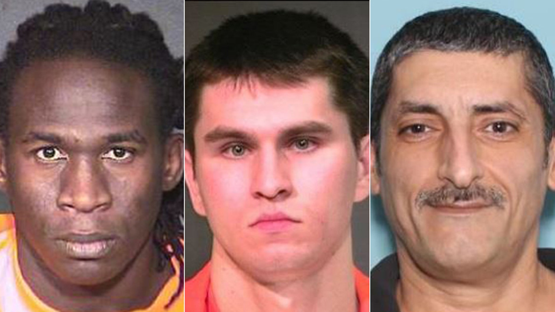 Musa Salah Abdelaziz Abdalla, Dennis Valerievitch Tsoukanov and Nasser Hanna Hermez (l-r.) were all released by ICE officials despite lengthy criminal histories. (Pinal County Sheriff)