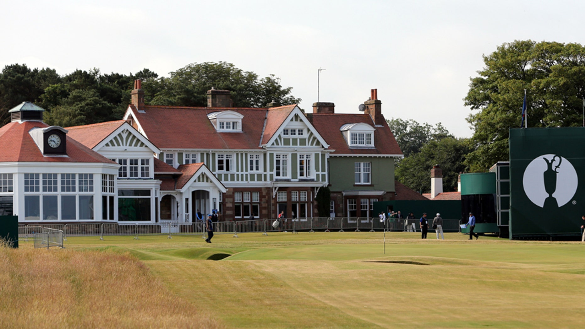 July 14, 2013: The clubhouse at Muirfield golf course in Muirfield, Scotland.