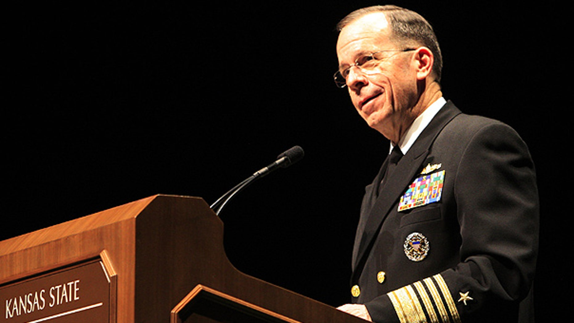 Mar. 3: Adm. Mike Mullen, chairman of the Joint Chiefs of Staff, speaks at Kansas State University in Manhattan, Kan.