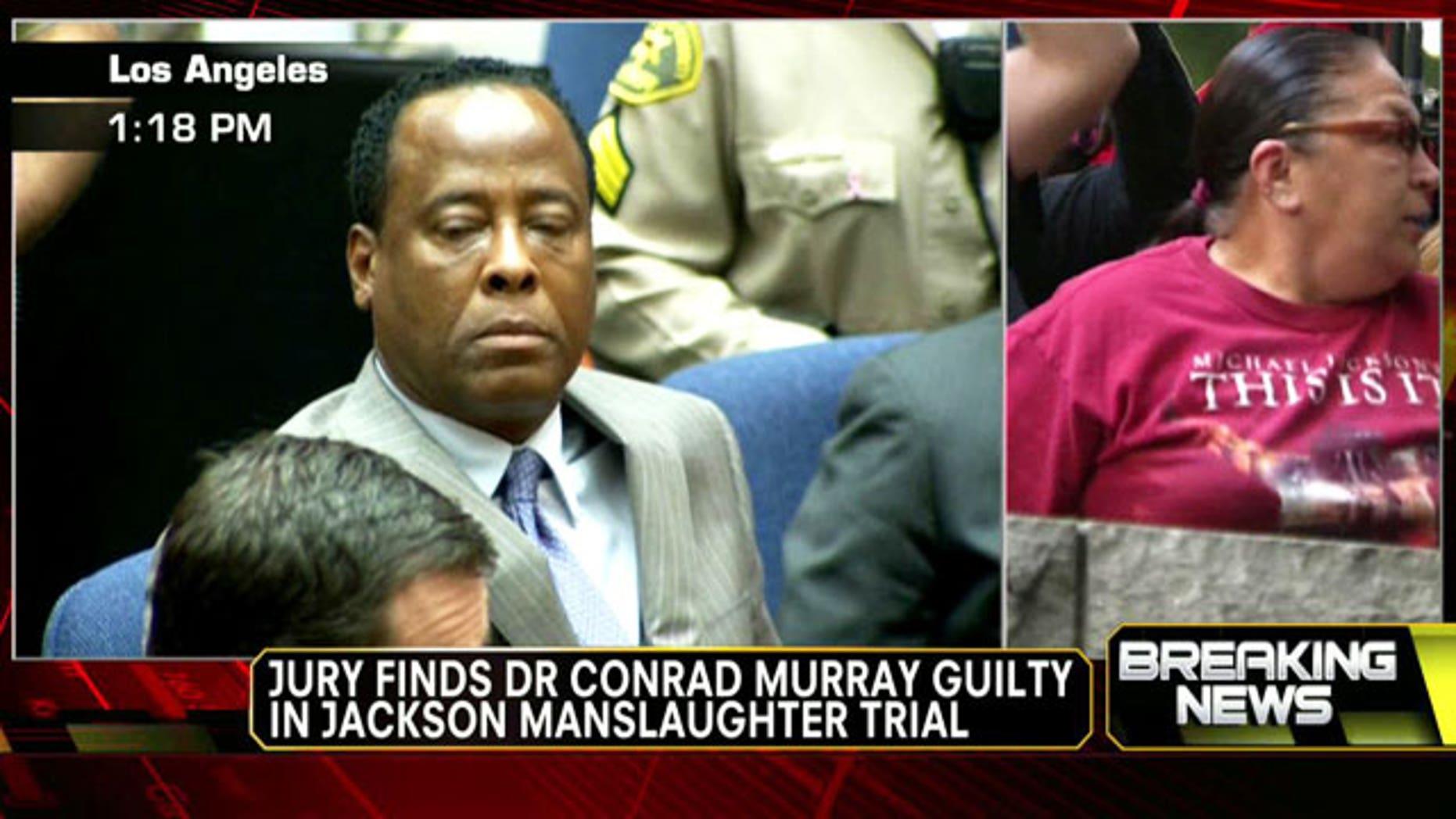 Nov. 7 2011: Dr. Conrad Murray reacts to the guilty verdict.