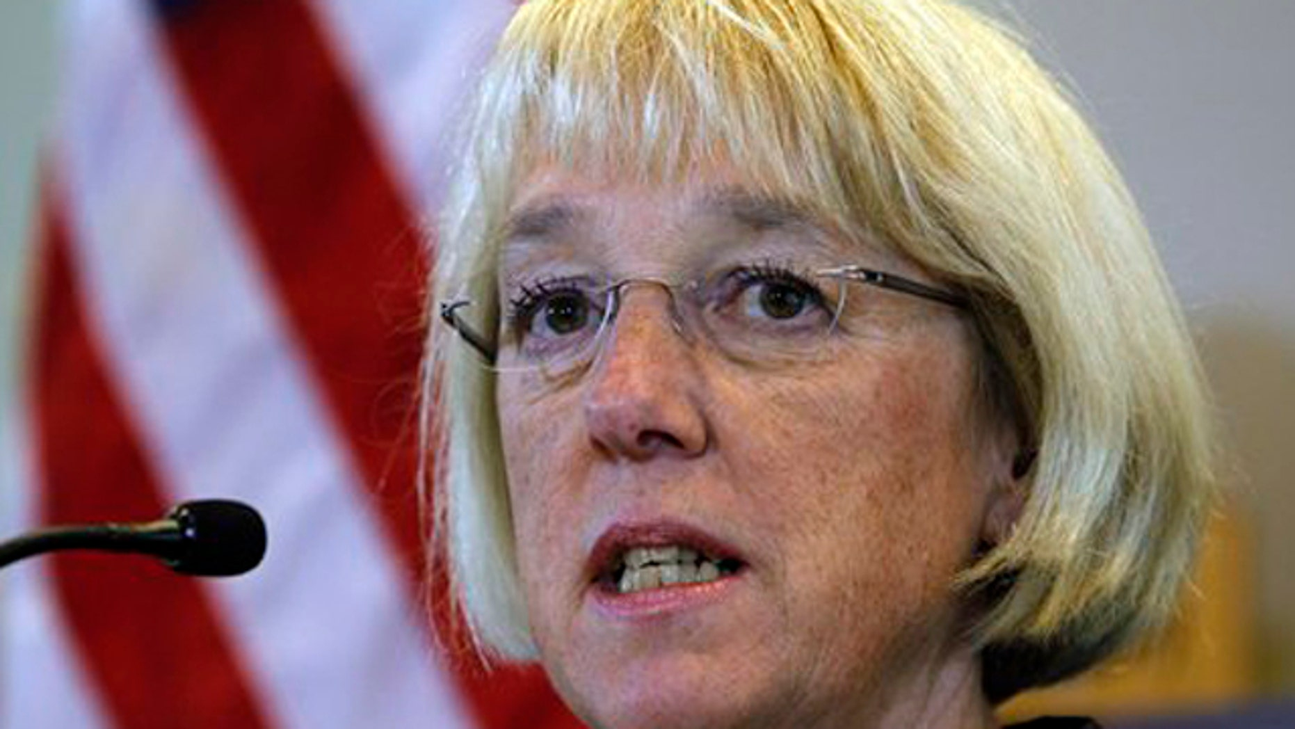 In this Aug. 10 file photo, Sen. Patty Murray answers a question during a news conference in Seattle.