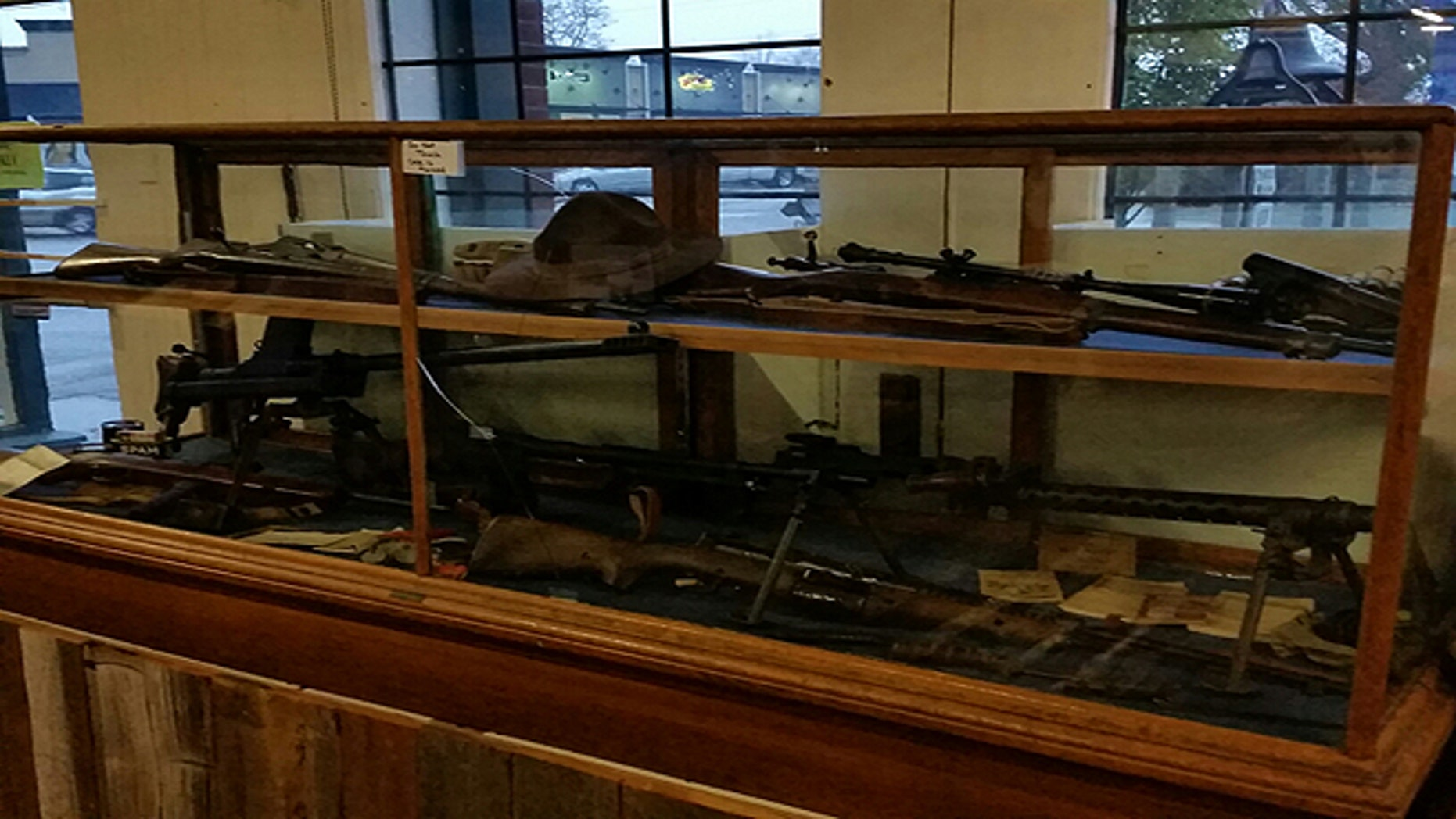 The Lynden Pioneer Museum, near the Canadian border in the northwest region of Washington state, nearly removed 11 weapons on display as part of a WWII exhibit because of new gun legislation.