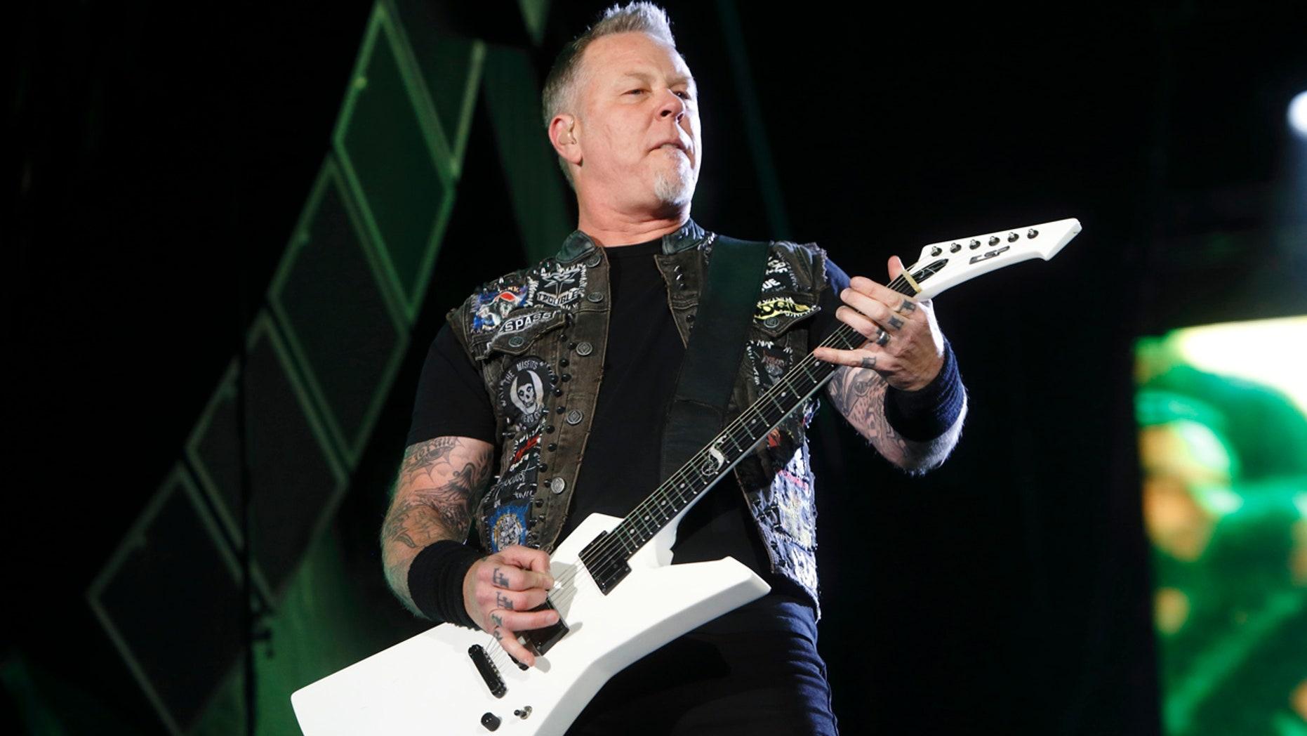 May 9, 2015: James Hetfield of Metallica performs at Rock in Rio USA in Las Vegas.