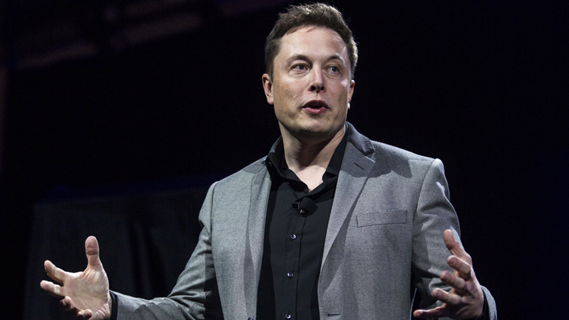 Tesla CEO Elon Musk speaks onstage in April 2015.