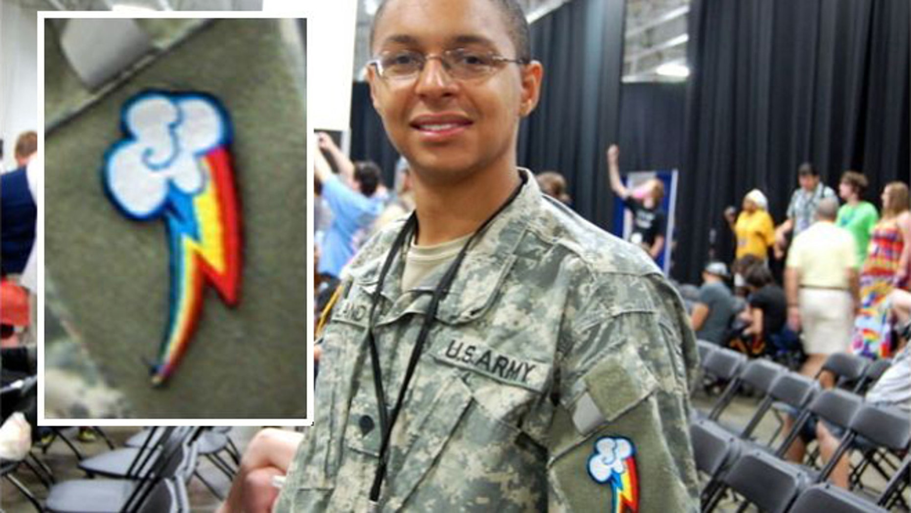 """National Guardsman identified as Darius attended a recent """"Brony"""" convention."""